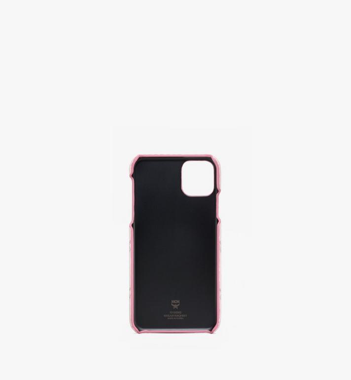 MCM iPhone 11 Pro Max Case in Visetos Pink MXEASVI08QH001 Alternate View 2