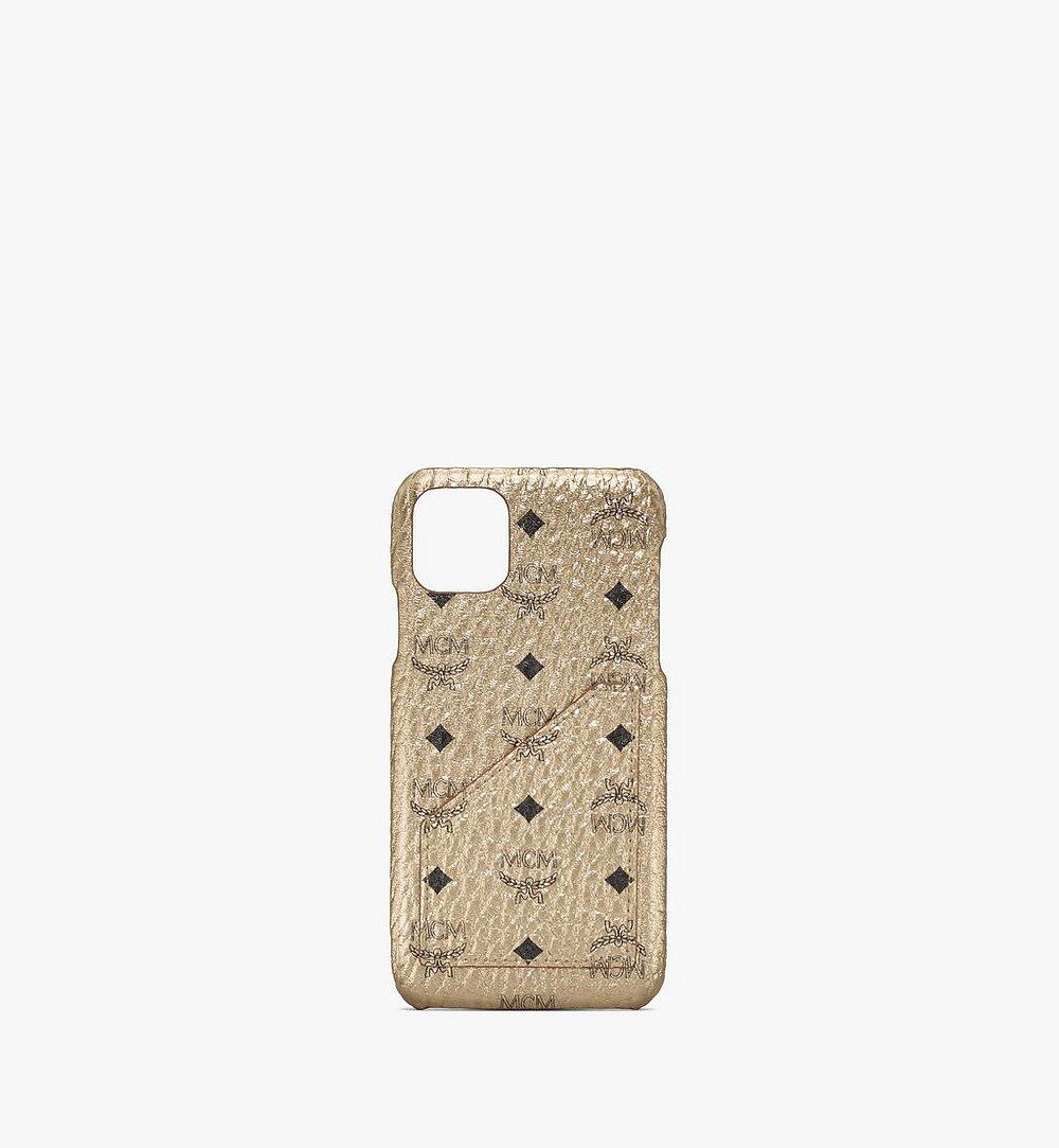 MCM iPhone 11 Pro Max Case in Visetos Gold MXEASVI08T1001 Alternate View 1