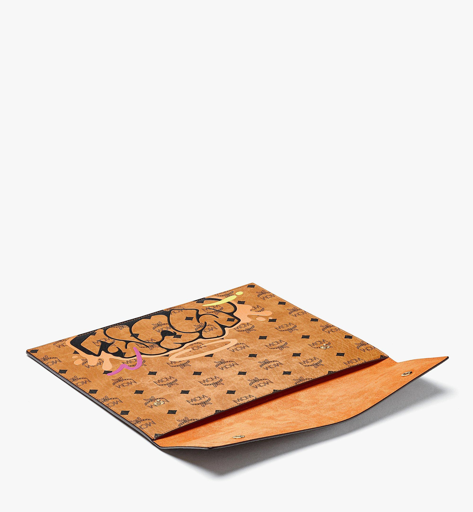 MCM MCM x SAMBYPEN iPad Sleeve in Visetos Cognac MXEBASP01CO001 Alternate View 1