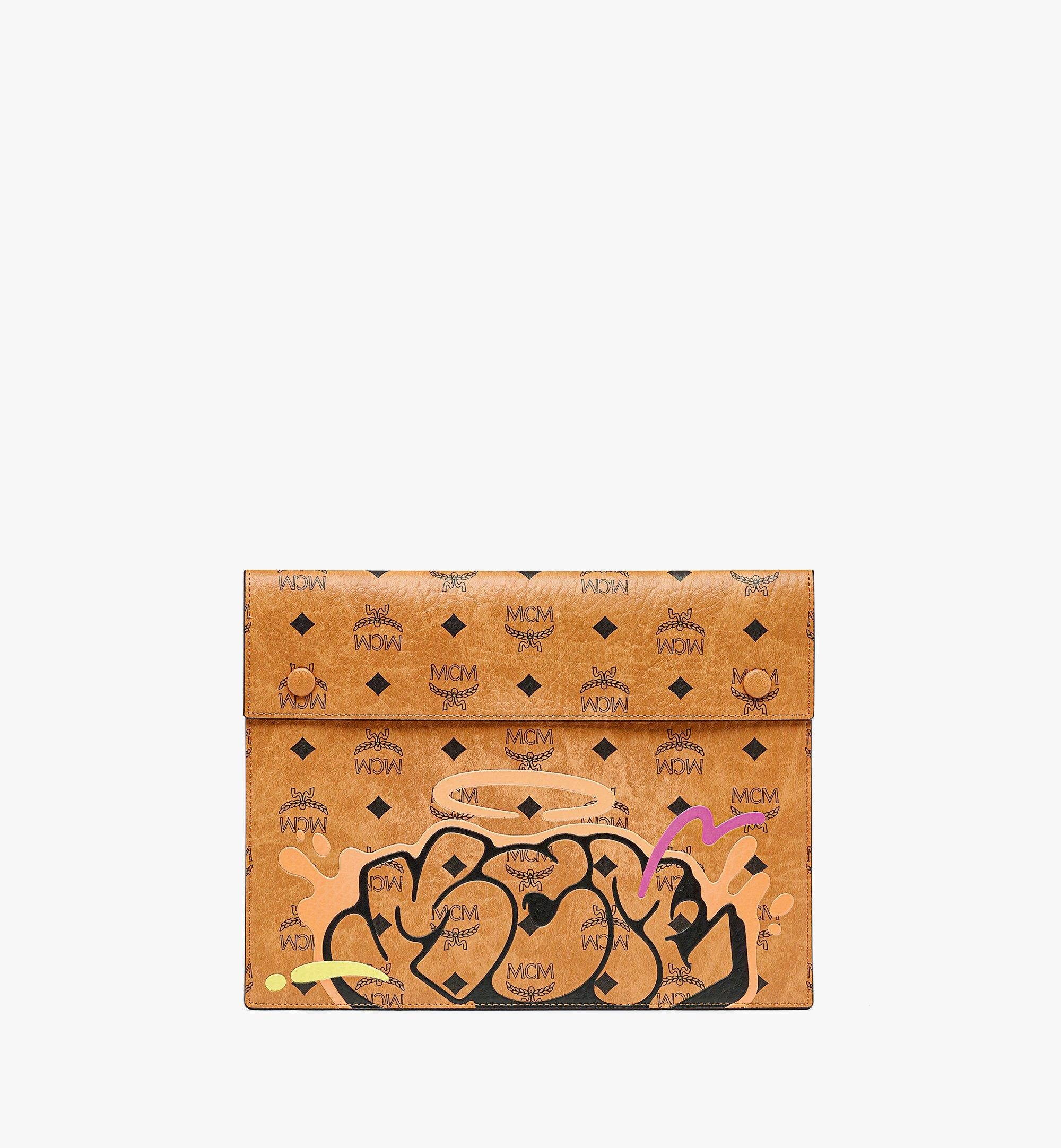 "MCM MCM x SAMBYPEN 11"" Tablet Sleeve in Visetos Cognac MXEBASP02CO001 Alternate View 1"