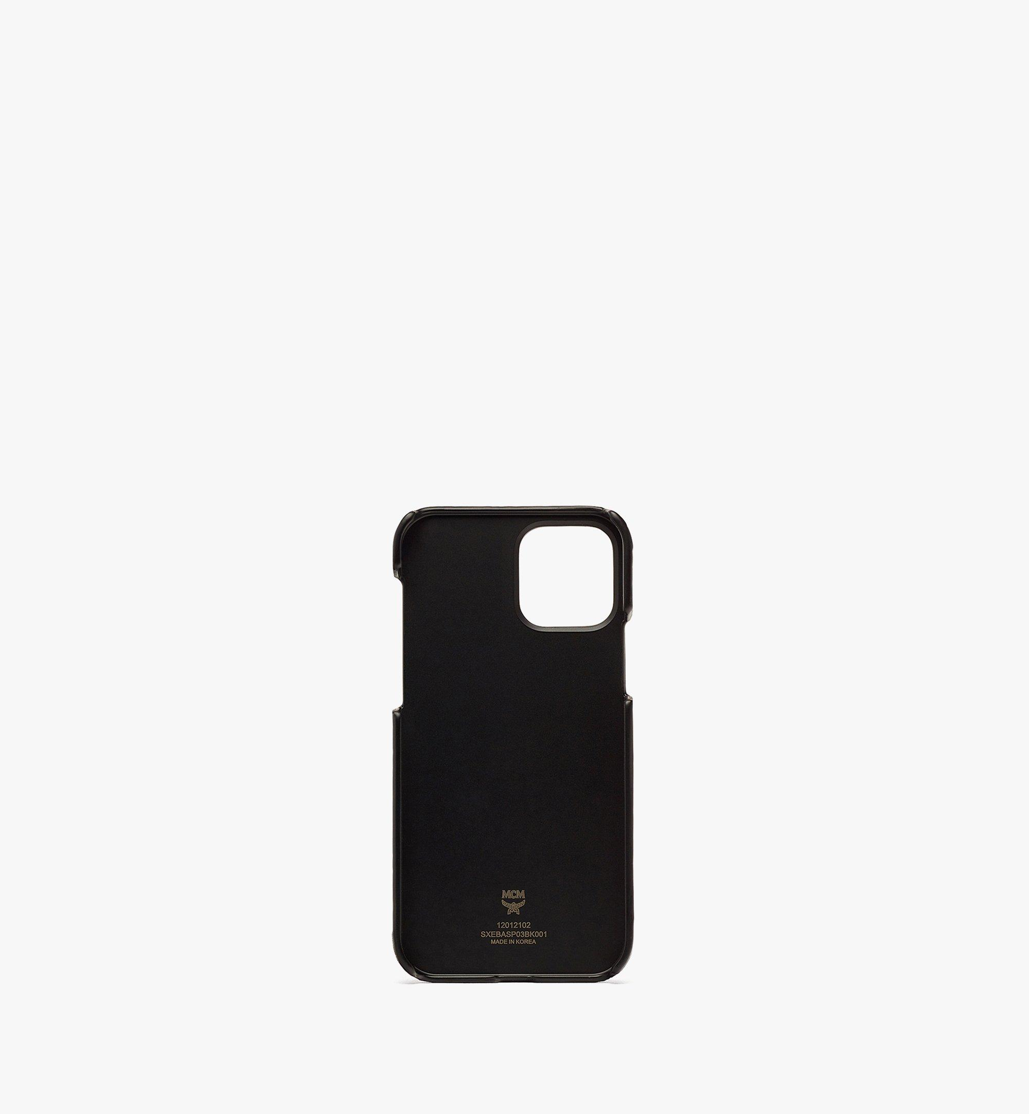 MCM MCM x SAMBYPEN iPhone 12/12 Pro Case in Visetos Black MXEBASP03BK001 Alternate View 1