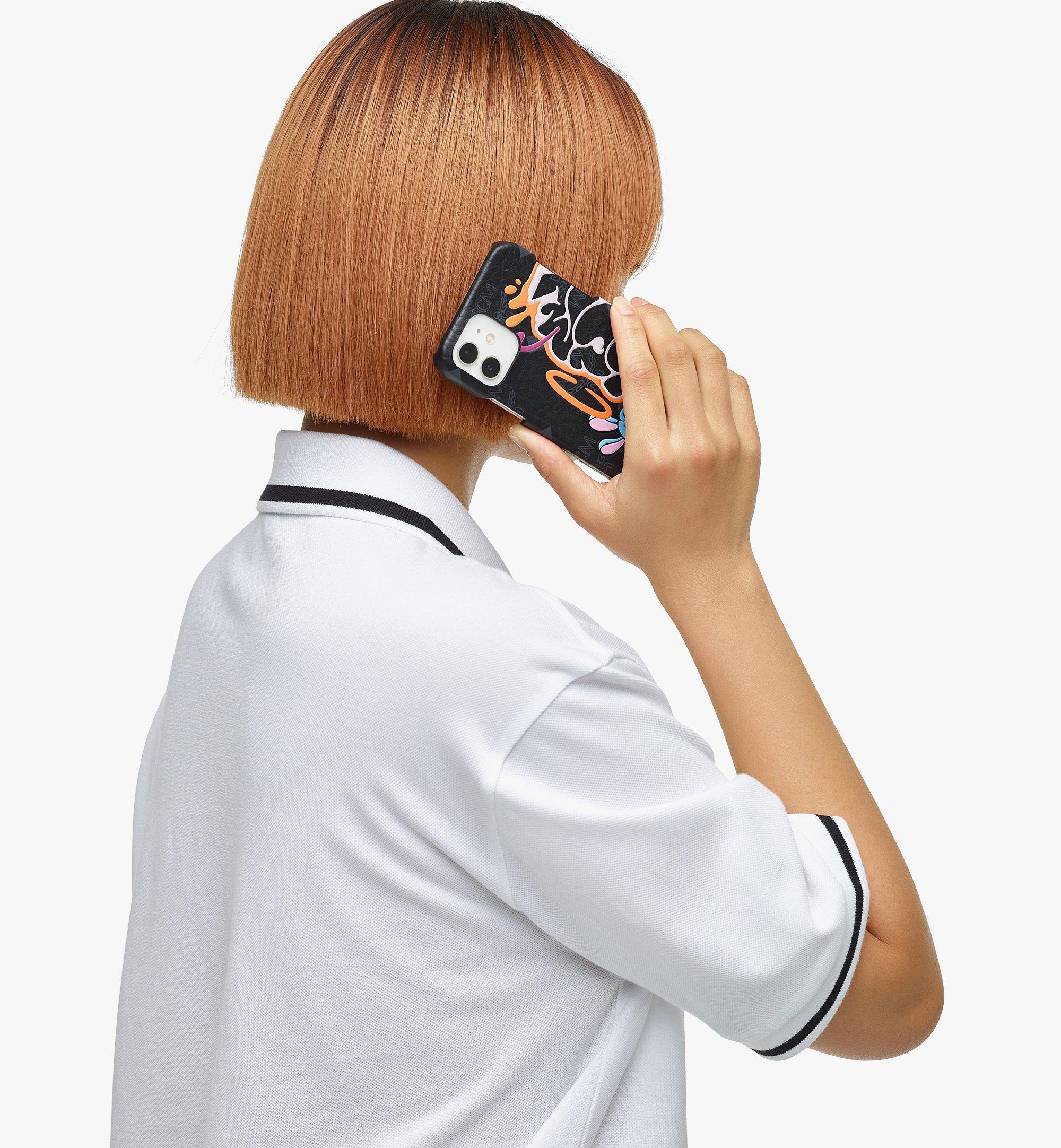 MCM MCM x SAMBYPEN iPhone 12/12 Pro Case in Visetos Black MXEBASP03BK001 Alternate View 2