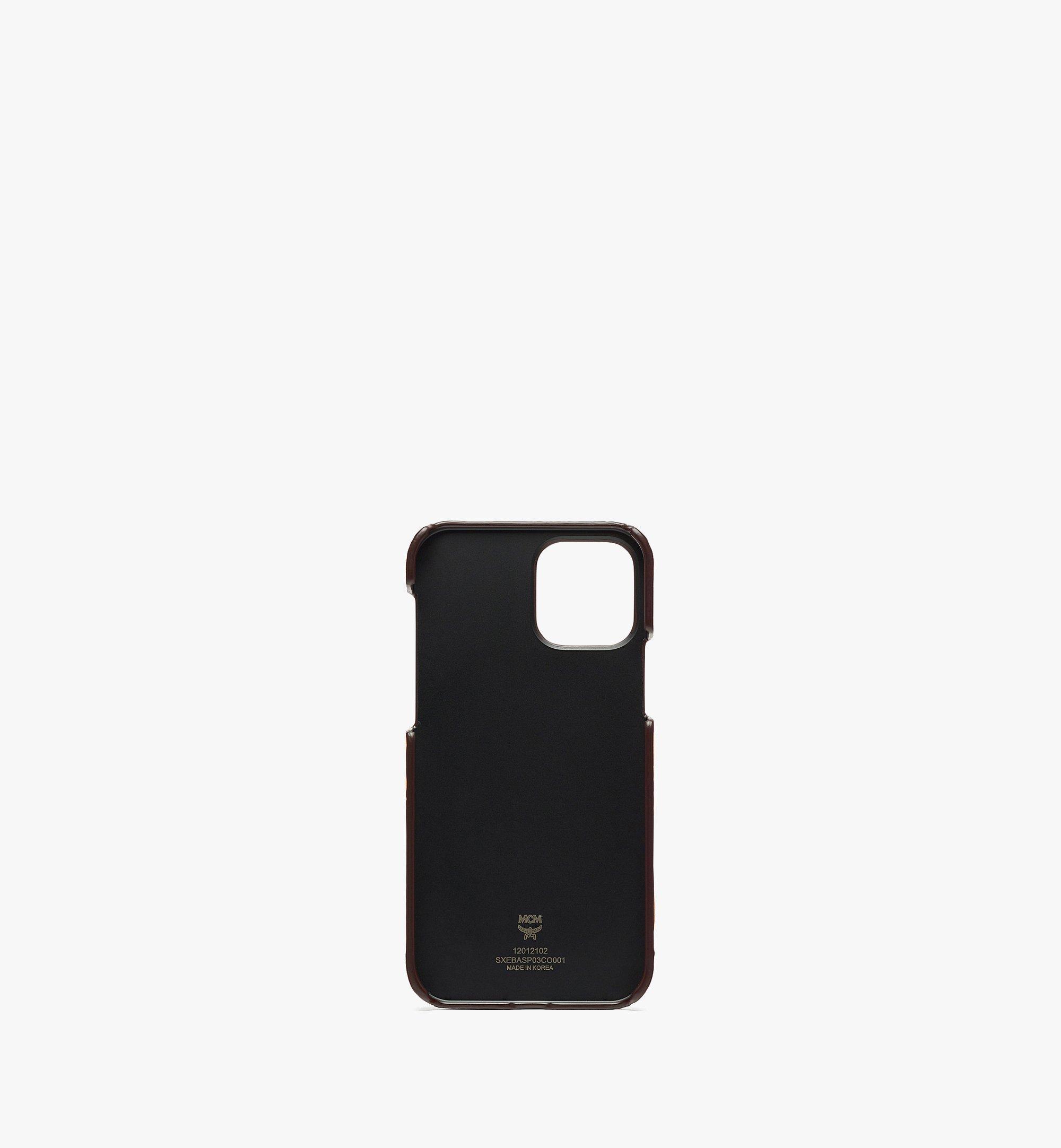 MCM MCM x SAMBYPEN iPhone 12/12 Pro Case in Visetos Cognac MXEBASP03CO001 Alternate View 1