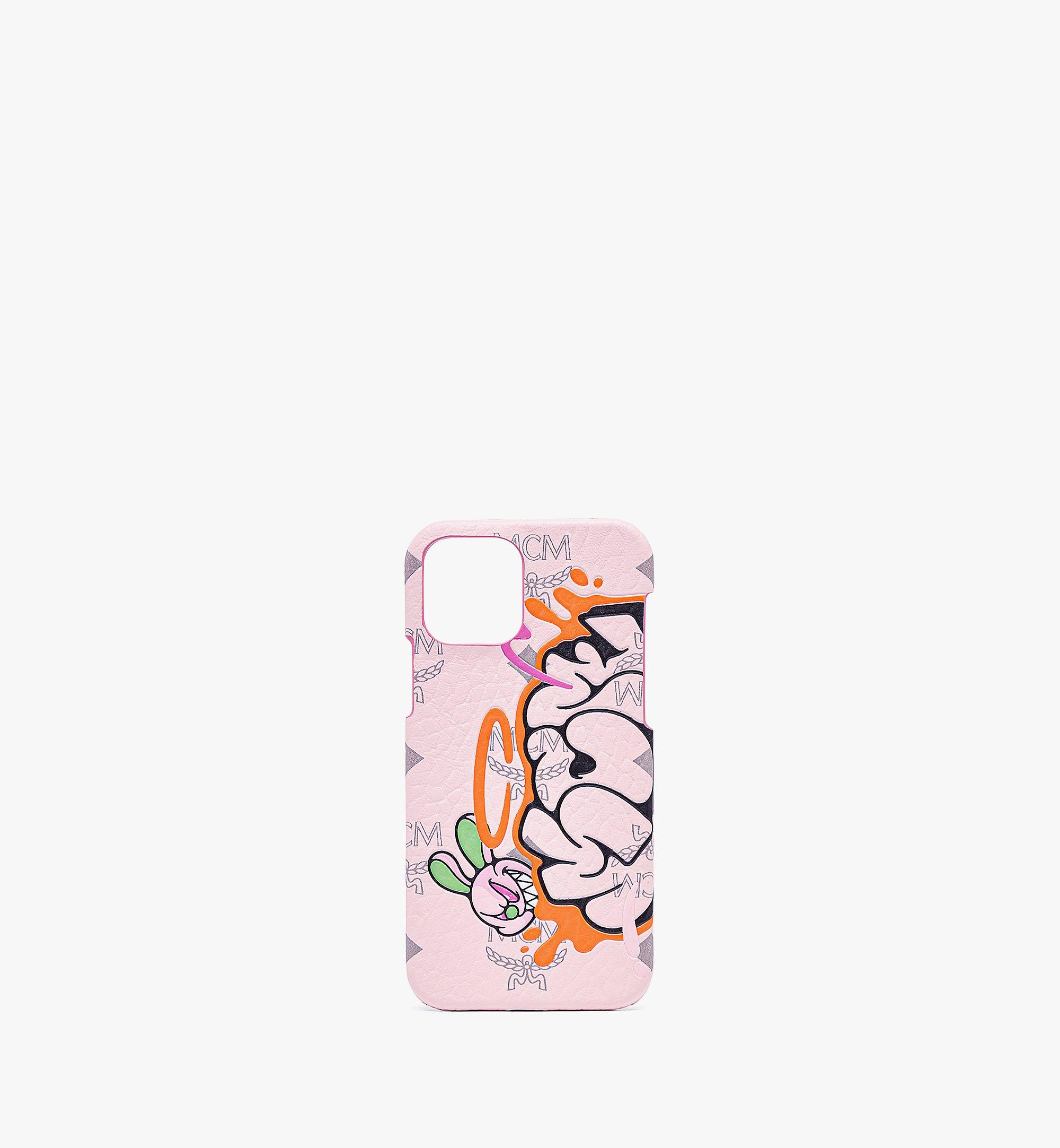 MCM MCM x SAMBYPEN iPhone 12/12 Pro Case in Visetos Pink MXEBASP03QH001 Alternate View 1