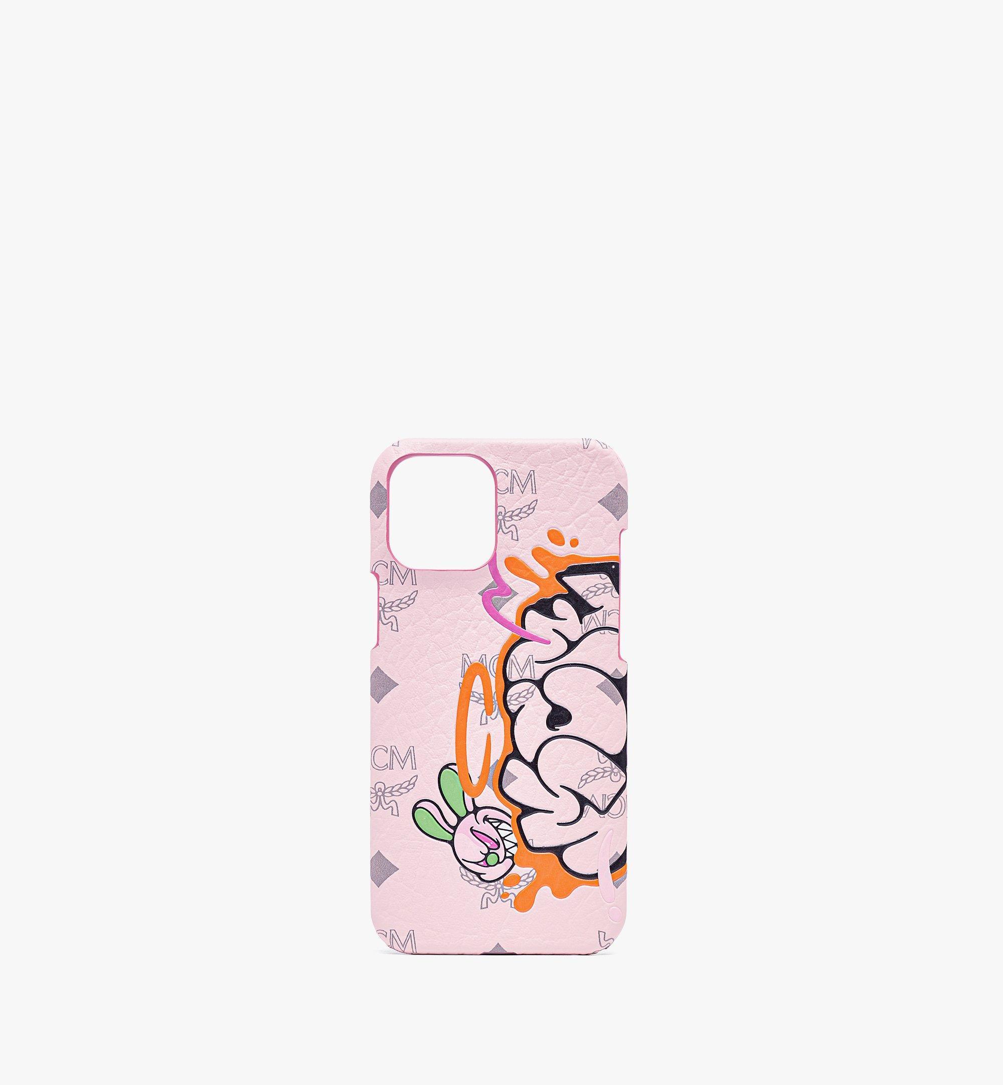 MCM MCM x SAMBYPEN iPhone 12 Pro Max Case in Visetos Pink MXEBASP04QH001 Alternate View 1
