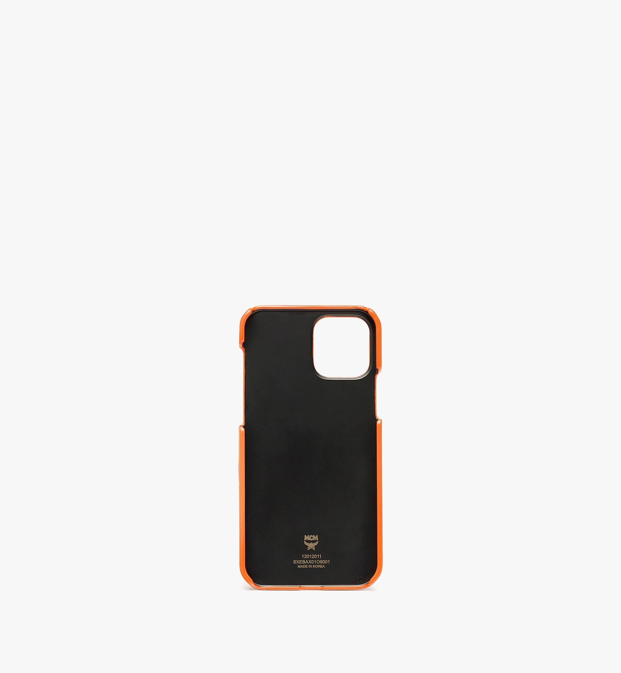 MCM Lanyard iPhone 12/12 Pro Case with Card Case Orange MXEBASX01O9001 Alternate View 1