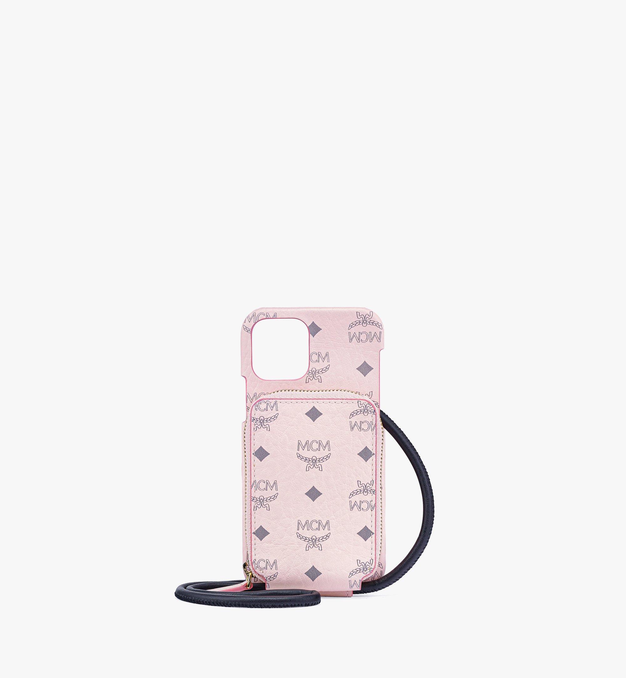 MCM iPhone 12/12 Proケース ジップポケット付き - Visetos Original Pink MXEBAVI01QH001 ほかの角度から見る 1