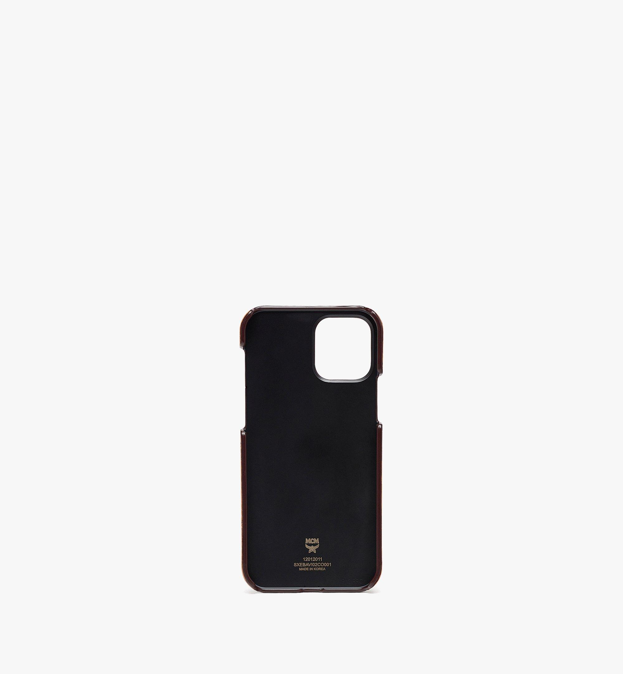 MCM iPhone 12/12 Pro Case with Chain handle and Card Slot Cognac MXEBAVI02CO001 Alternate View 1