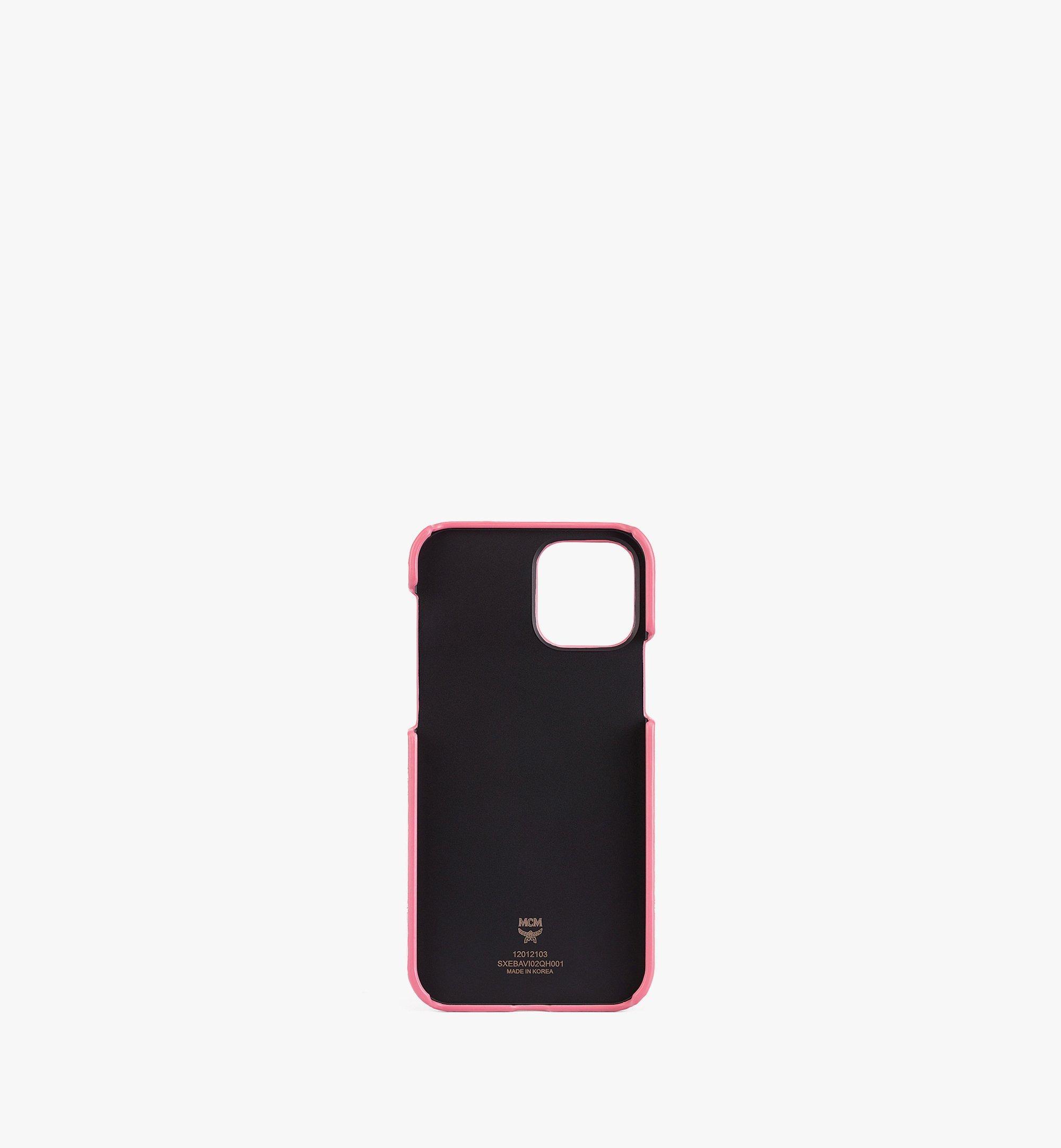 MCM iPhone 12/12 Pro 手機殼附鏈條把手及卡片夾層 Pink MXEBAVI02QH001 更多視圖 1