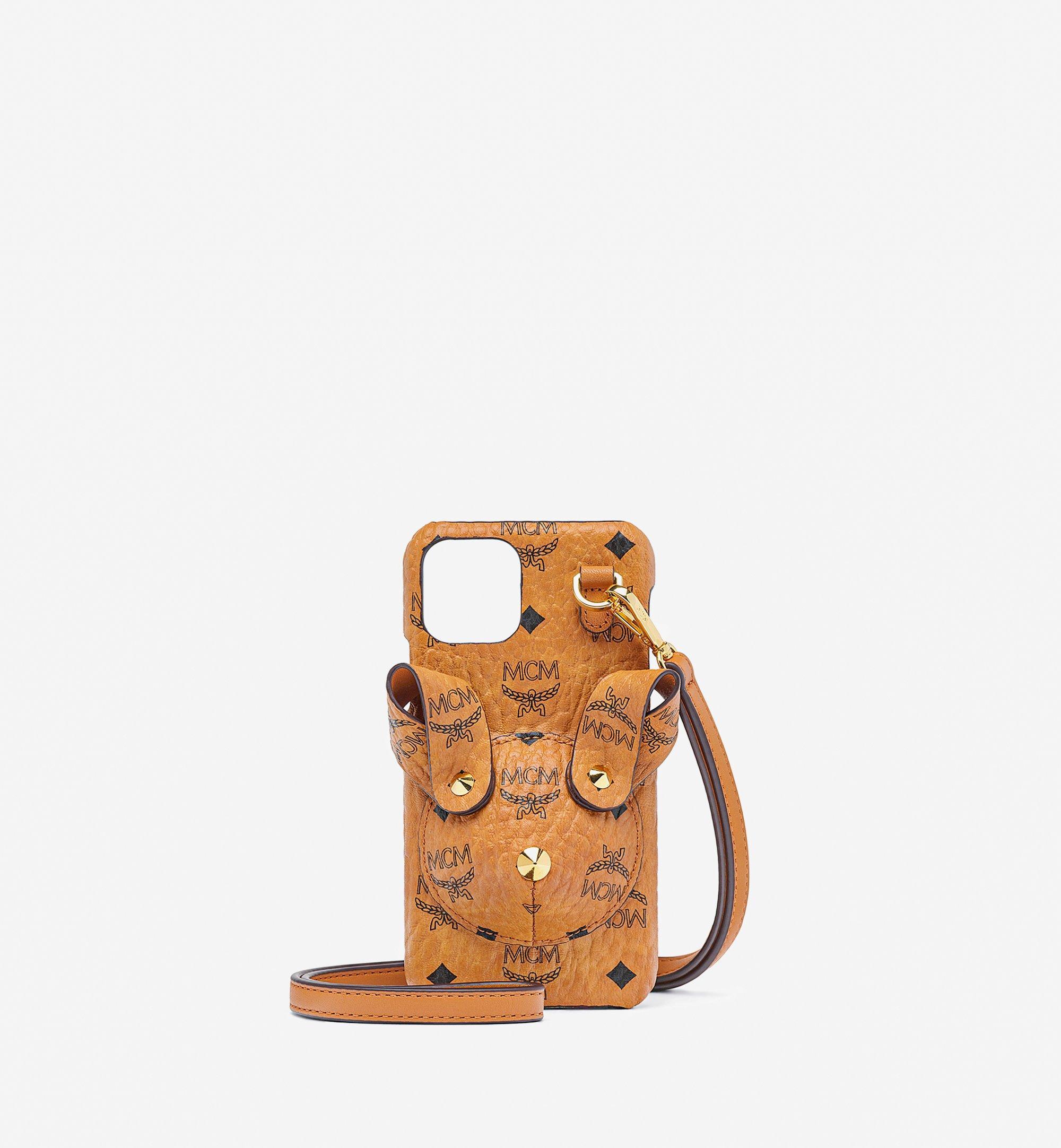 MCM Rabbit iPhone 11 Pro Case in Visetos Cognac MXEBSMM01CO001 Alternate View 1