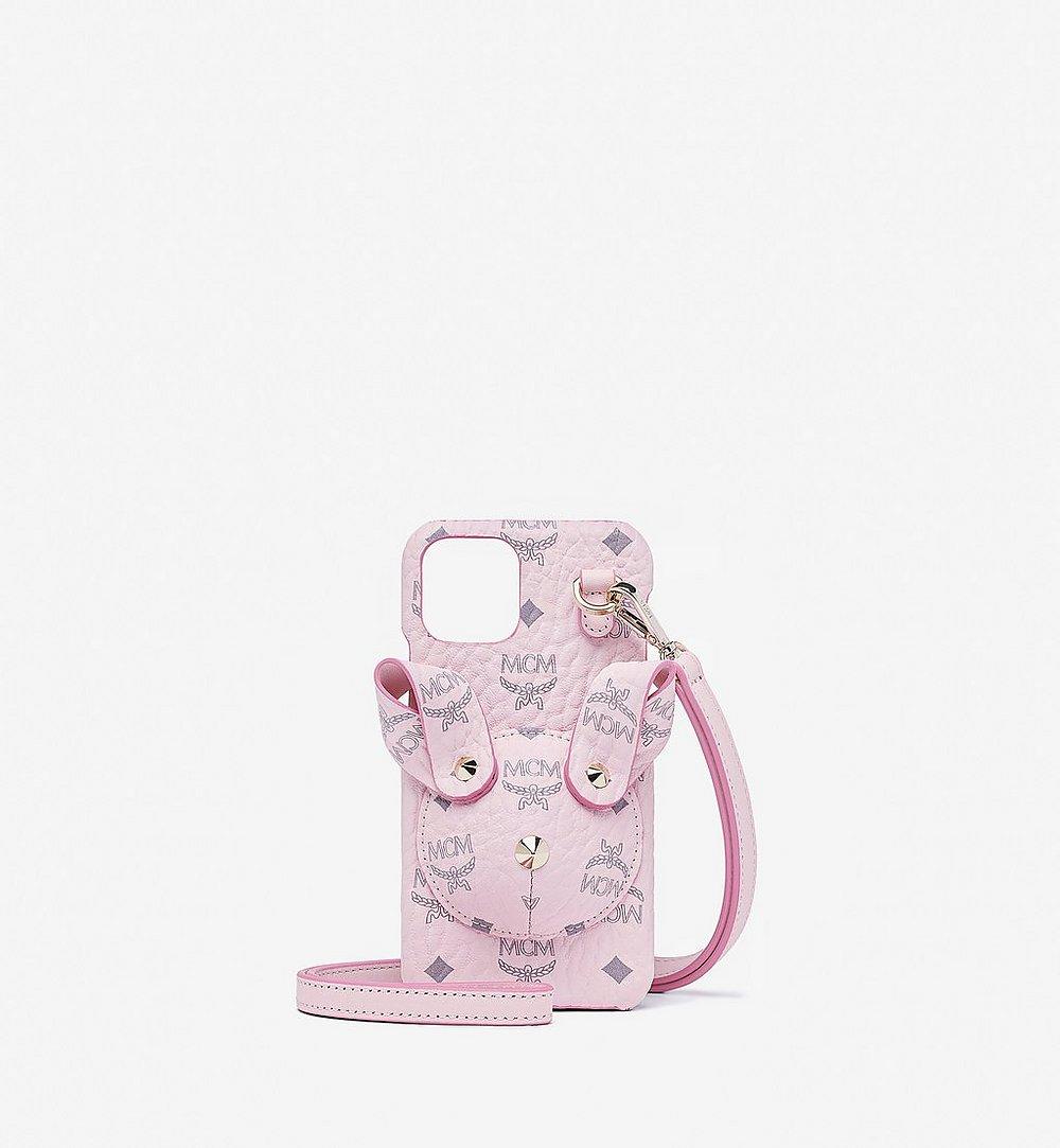 MCM Rabbit iPhone 11 Pro Case in Visetos Pink MXEBSMM01QH001 Alternate View 1