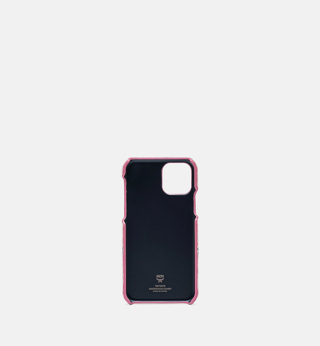 MCM Rabbit iPhone 11 Pro Case in Visetos Pink MXEBSMM01QH001 Alternate View 1