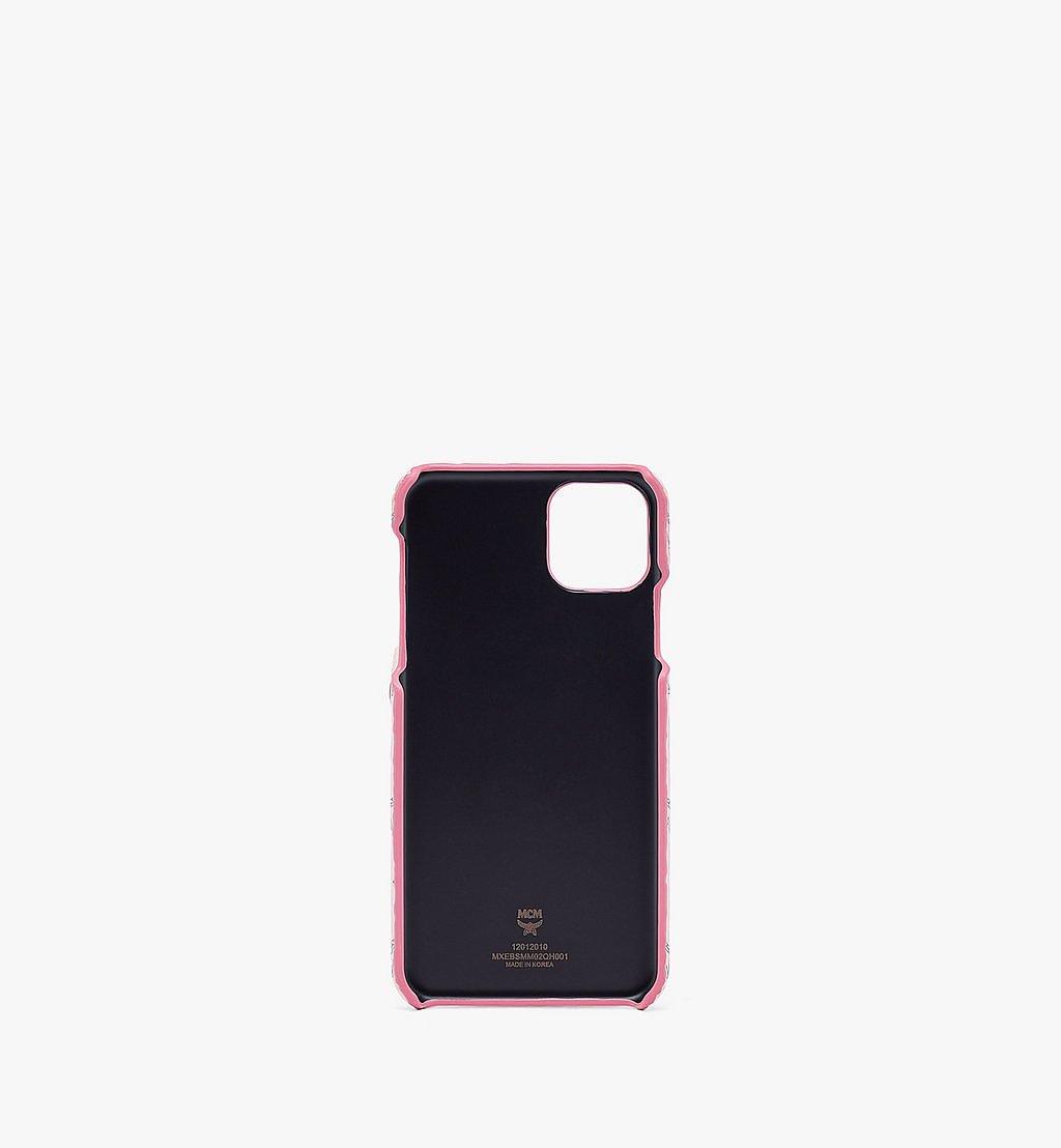 MCM Rabbit iPhone 11 Pro Max Case in Visetos Pink MXEBSMM02QH001 Alternate View 1