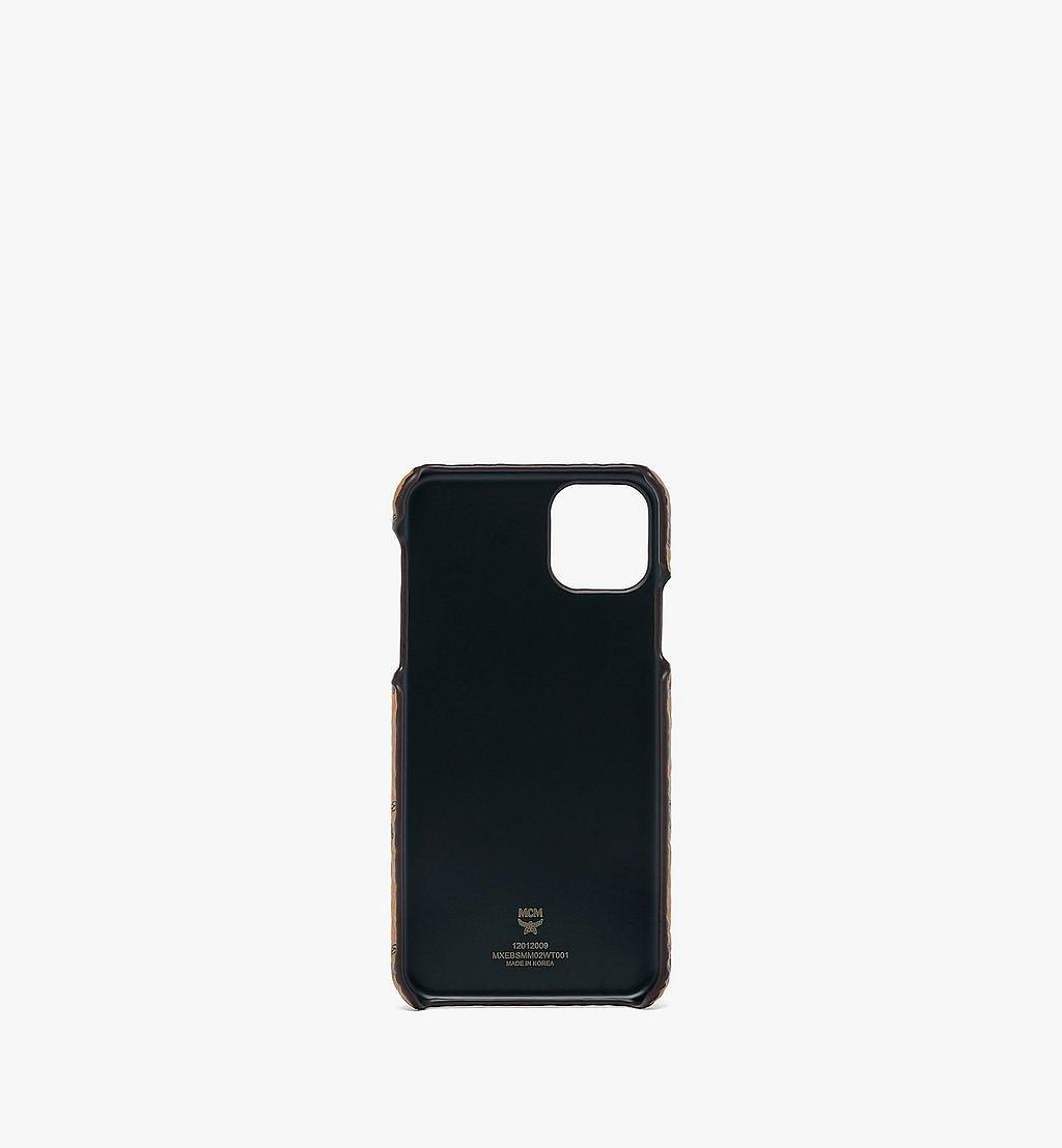 MCM Rabbit iPhone 11 Pro Max Case in Visetos White MXEBSMM02WT001 Alternate View 1