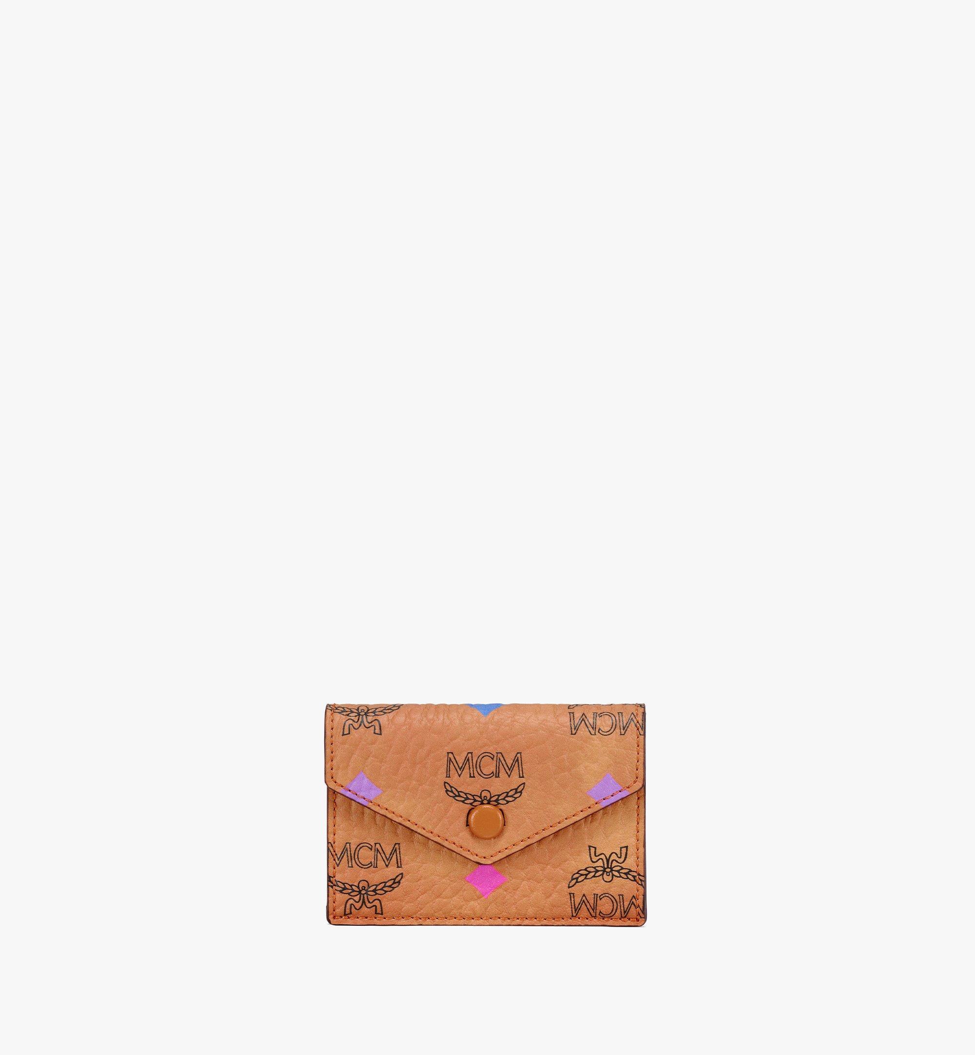 """MCM 13"""" iPad Sleeve in Skyoptic Visetos Cognac MXEBSSV03CA001 Alternate View 4"""