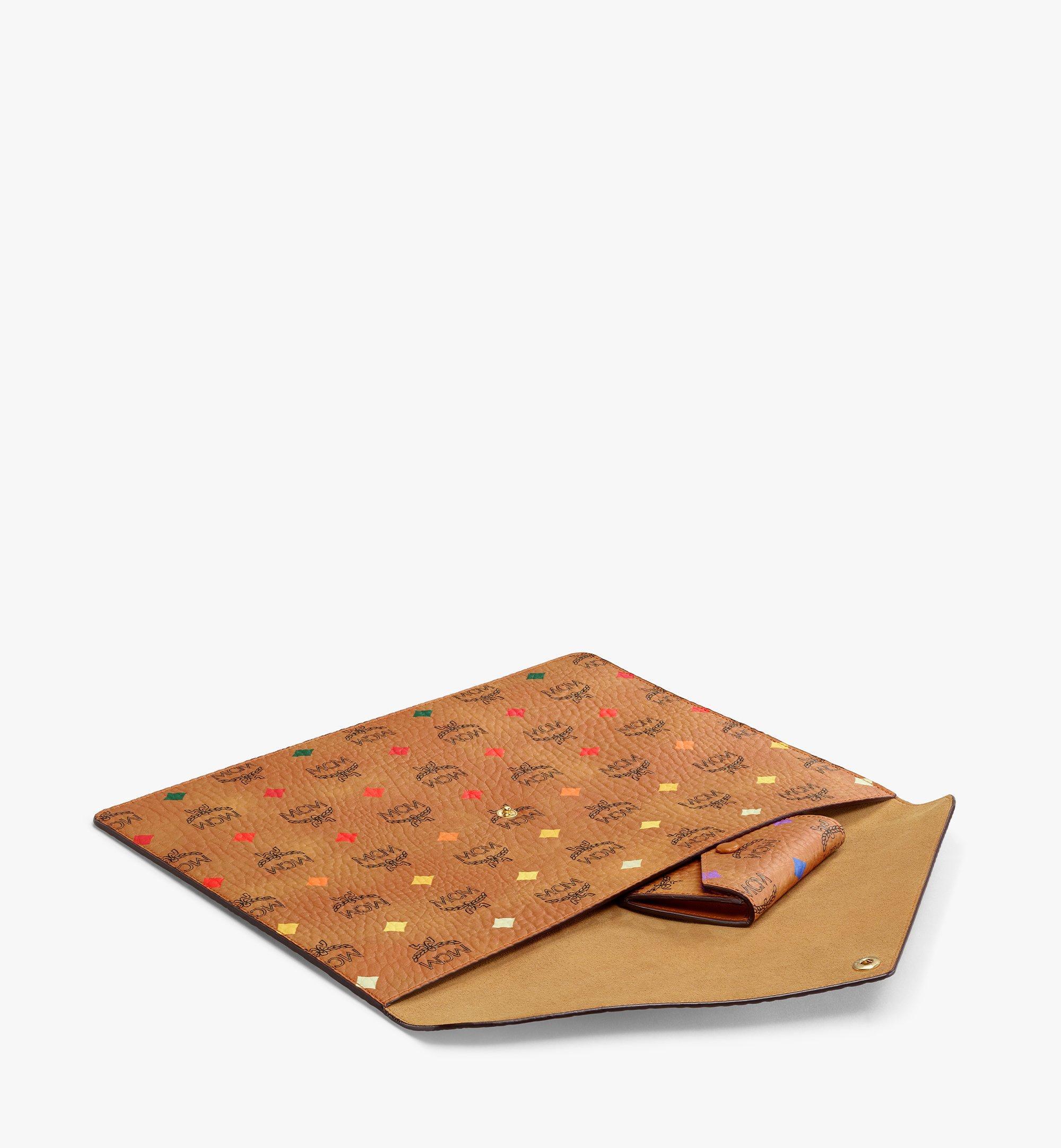 MCM iPad Sleeve in Skyoptic Visetos Cognac MXEBSSV04CA001 Alternate View 1
