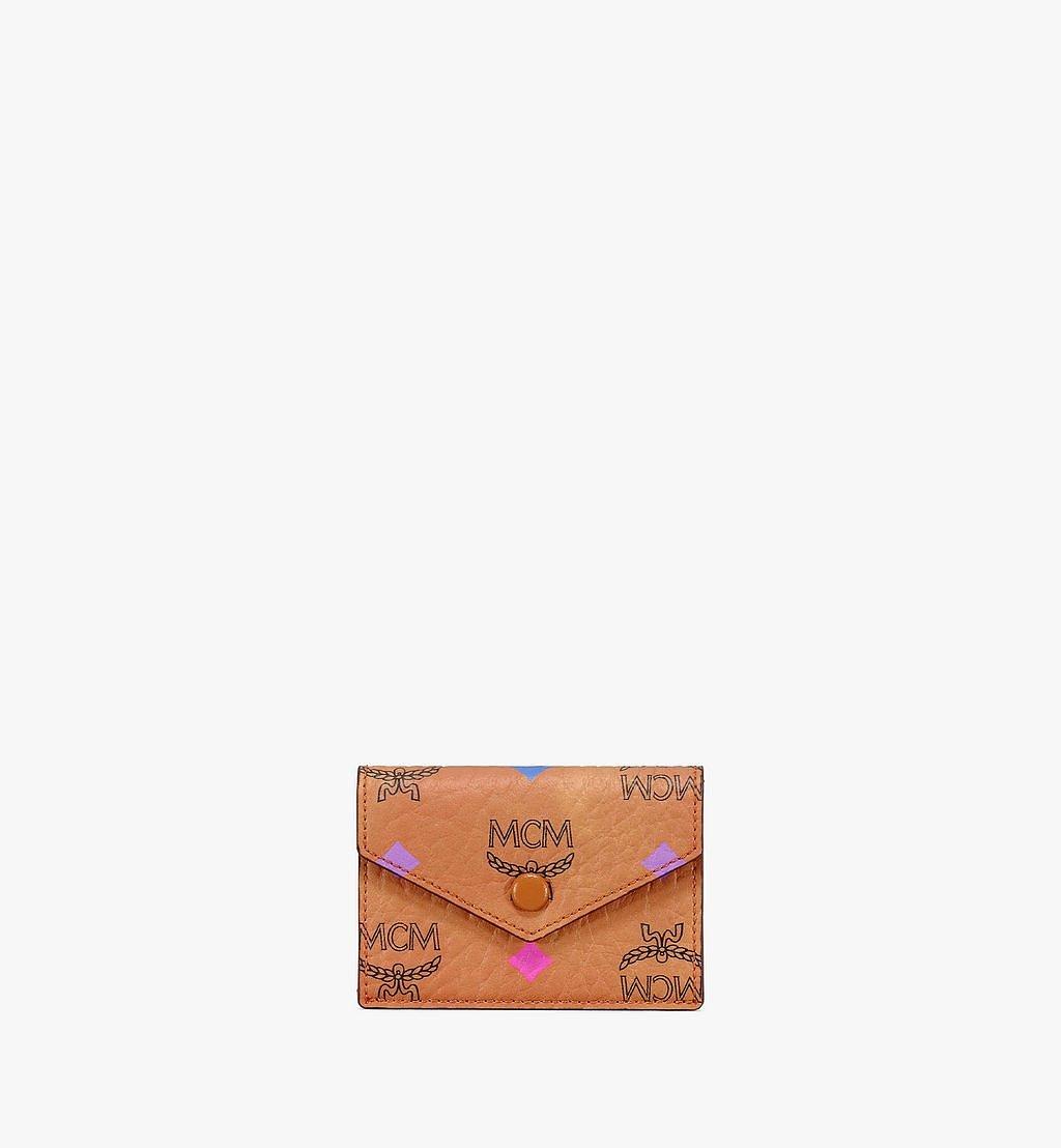 """MCM 11"""" iPad Sleeve in Skyoptic Visetos Cognac MXEBSSV04CA001 Alternate View 4"""