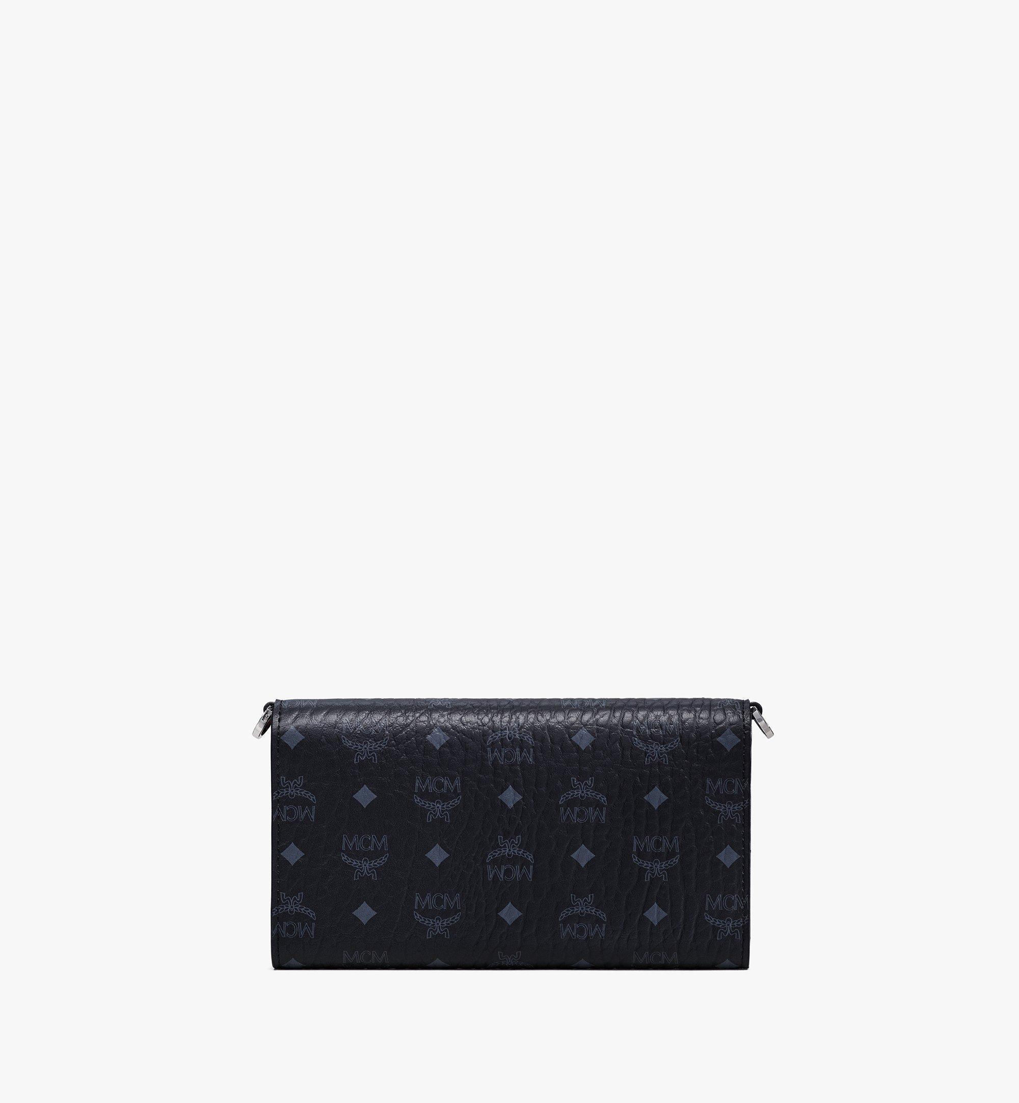 MCM กระเป๋าสตางค์ใส่โทรศัพท์มือถือครอสบอดี้ลาย Visetos Original Black MXEBSVI01BK001 มุมมองอื่น 2