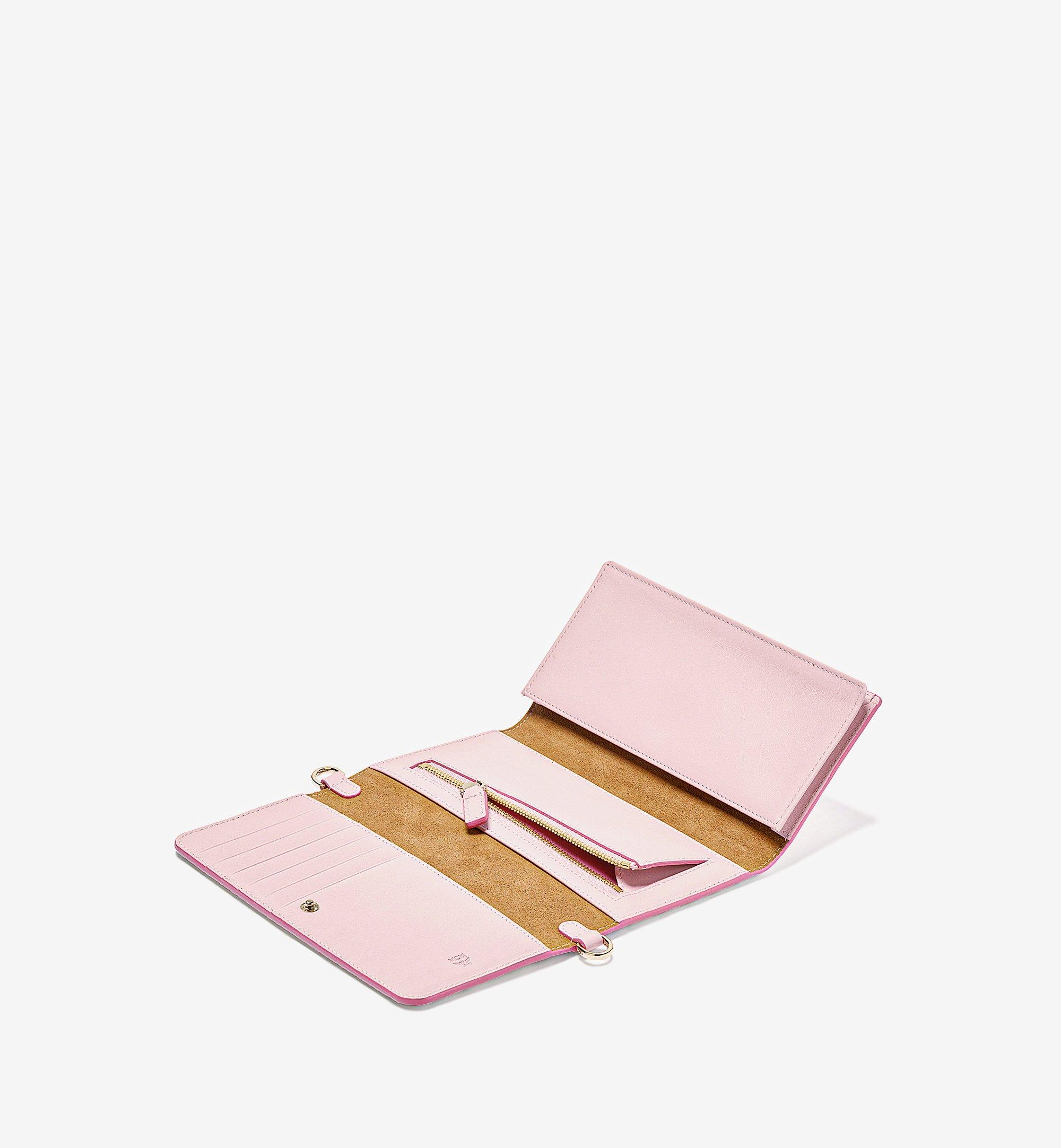MCM Crossbody Phone Wallet in Visetos Original Pink MXEBSVI01QH001 Alternate View 1