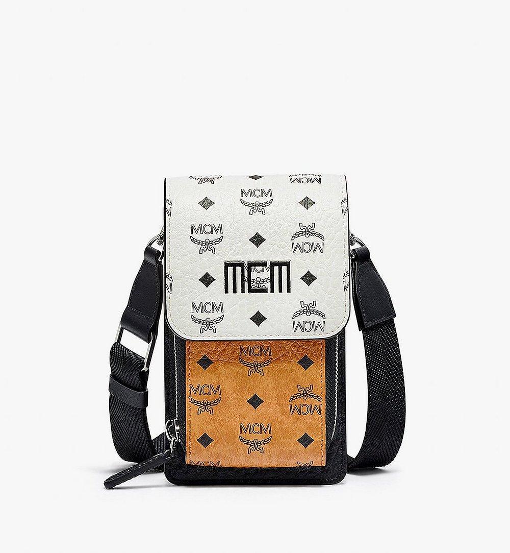 MCM 비세토스 믹스 크로스바디 휴대폰 케이스 White MXEBSVI04WT001 다른 각도 보기 1
