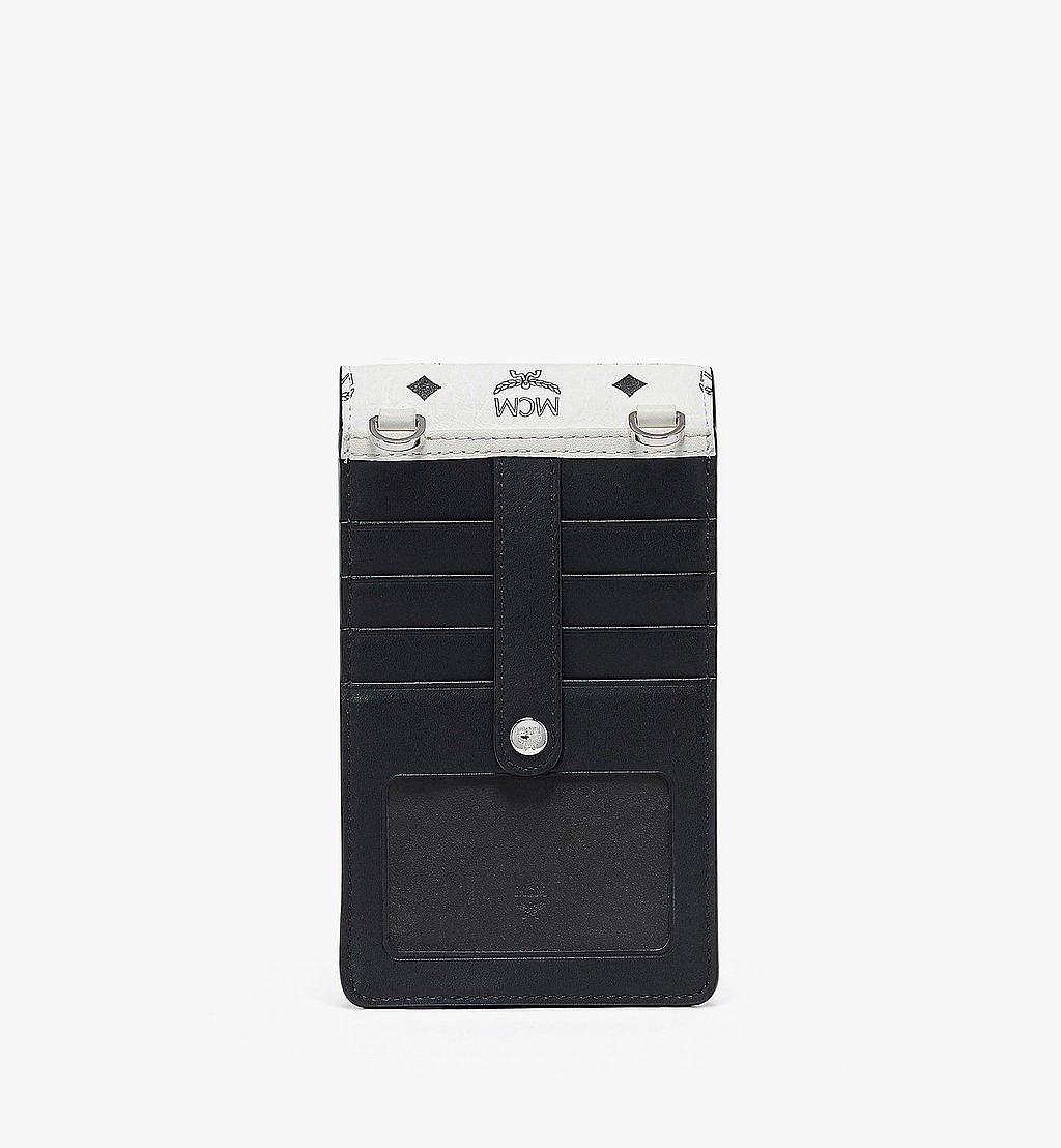 MCM Crossbody Phone Case in Visetos Mix White MXEBSVI04WT001 Alternate View 3
