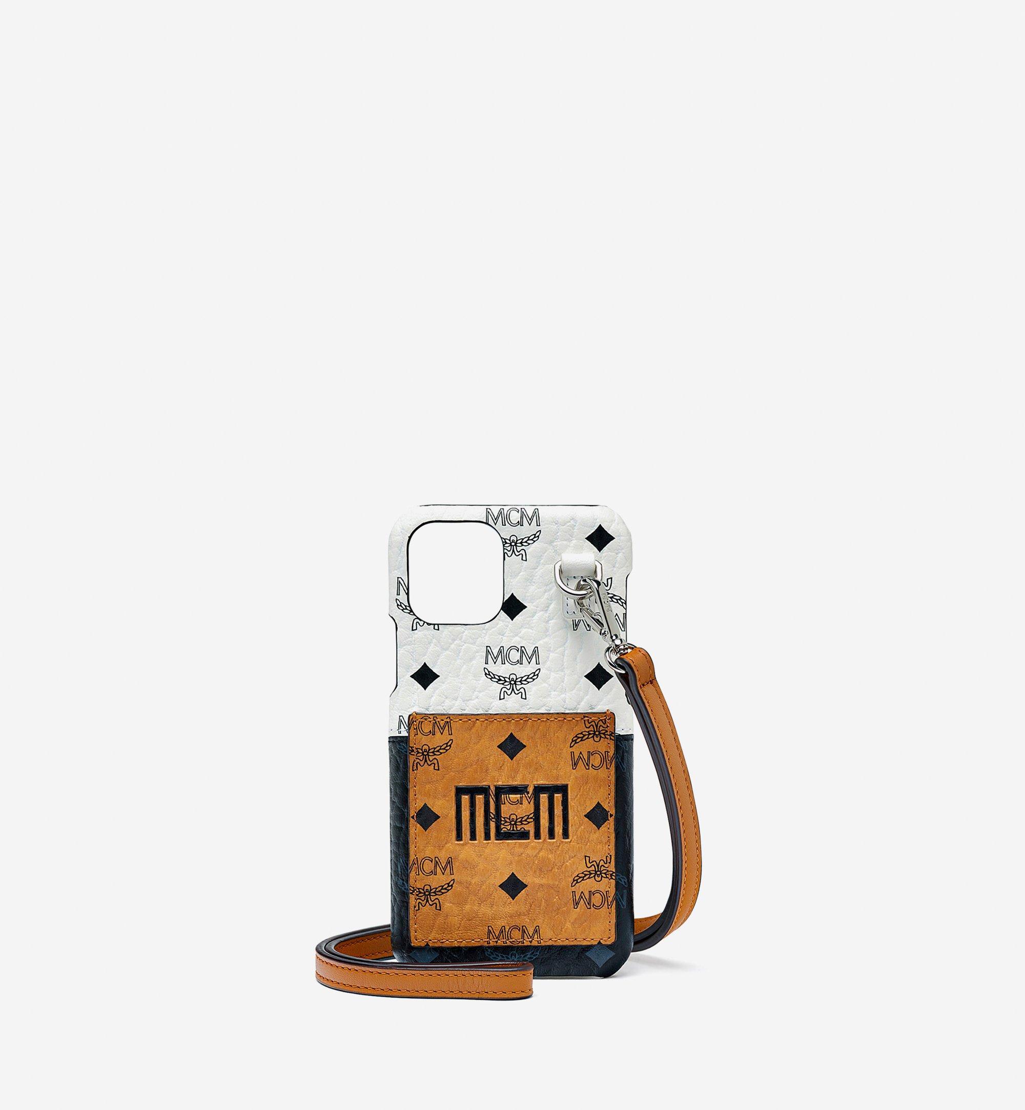 MCM iPhone 11 Pro Case in Visetos Mix Cognac MXEBSVI05CO001 Alternate View 1