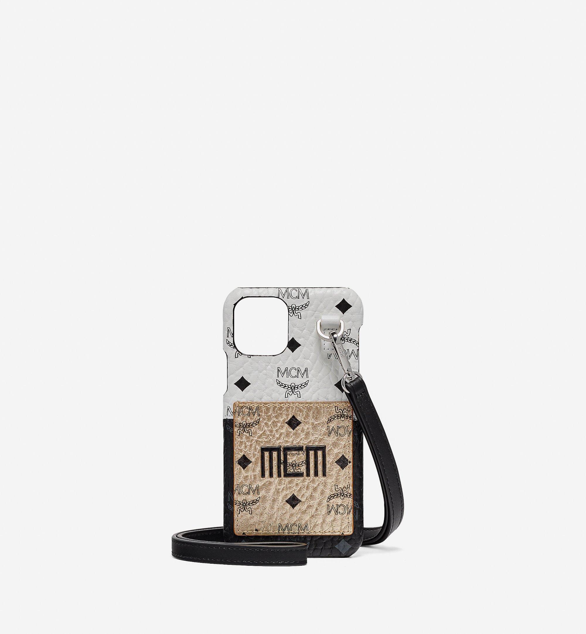 MCM iPhone 11 Pro Case in Visetos Mix Gold MXEBSVI05T1001 Alternate View 1