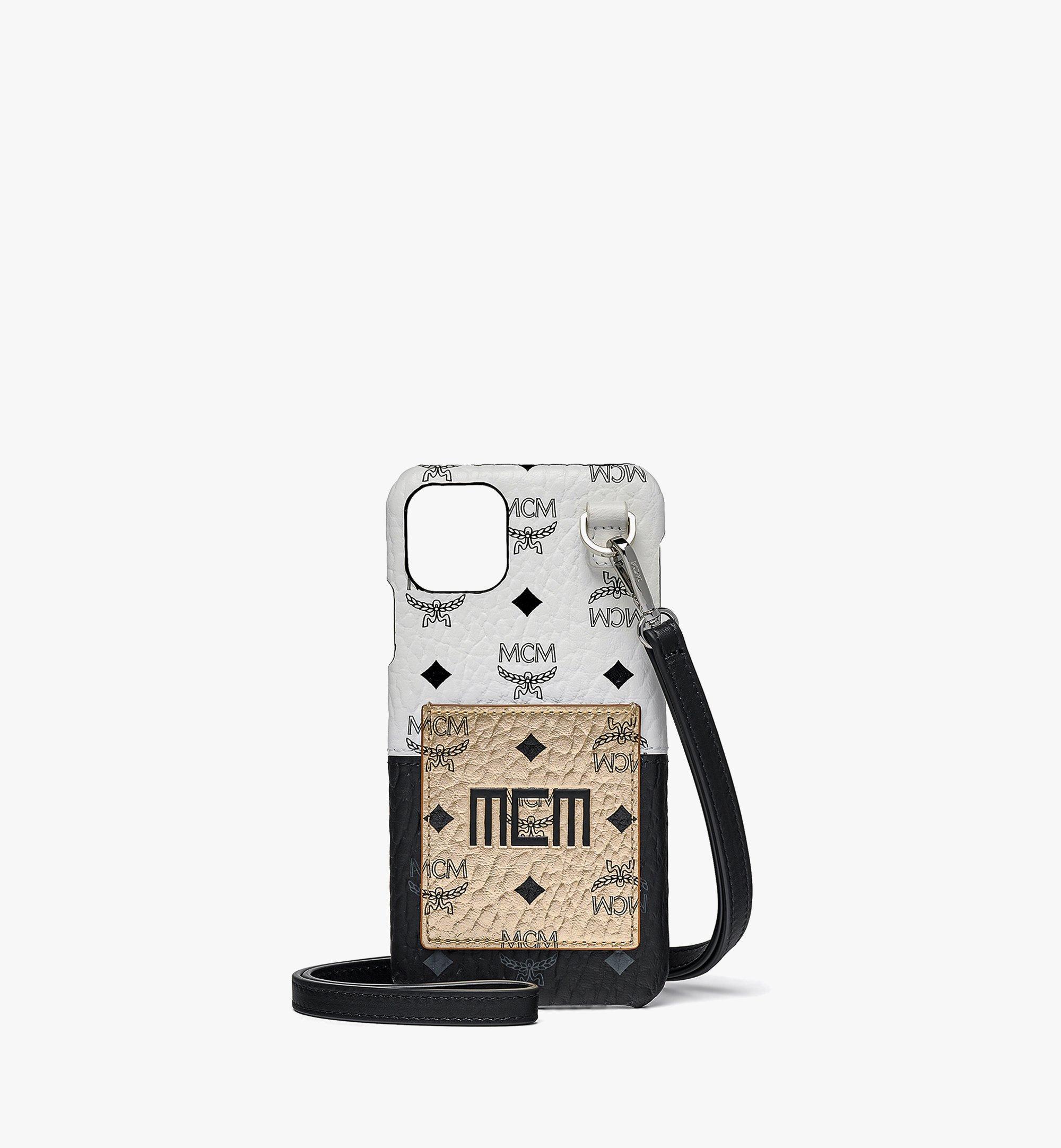 MCM iPhone 11 Pro Max Case in Visetos Mix Gold MXEBSVI06T1001 Alternate View 1