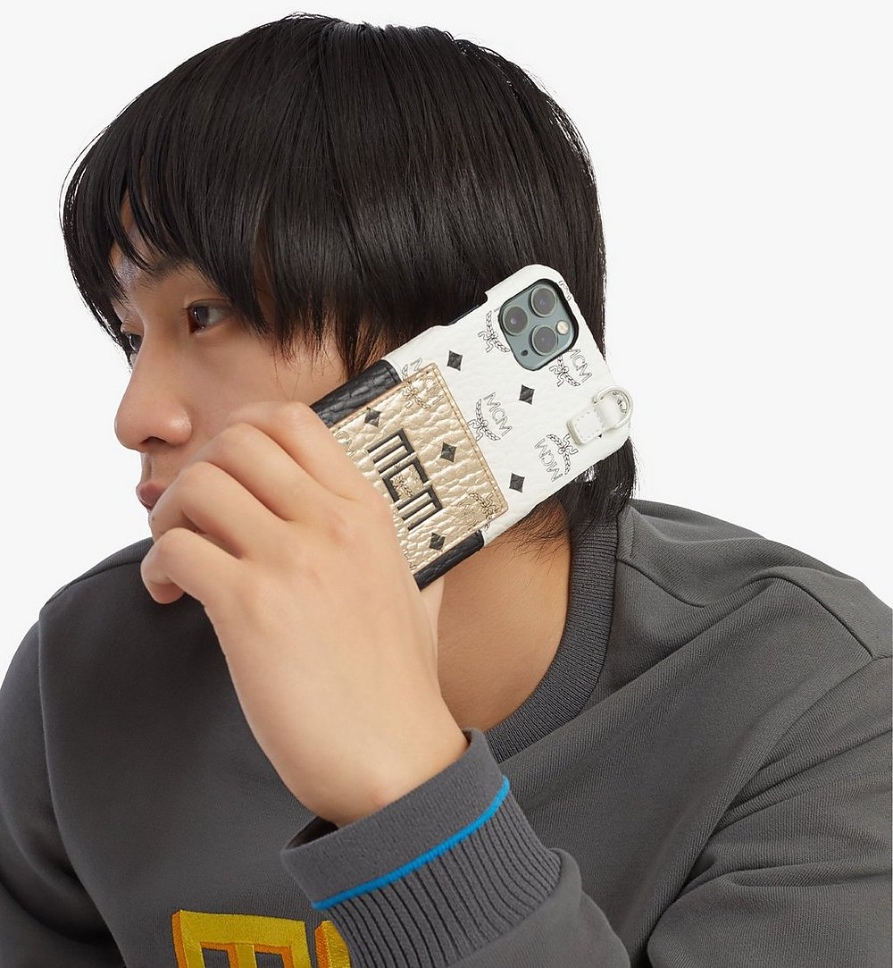 MCM iPhone 11 Pro Max Case in Visetos Mix Gold MXEBSVI06T1001 Alternate View 2