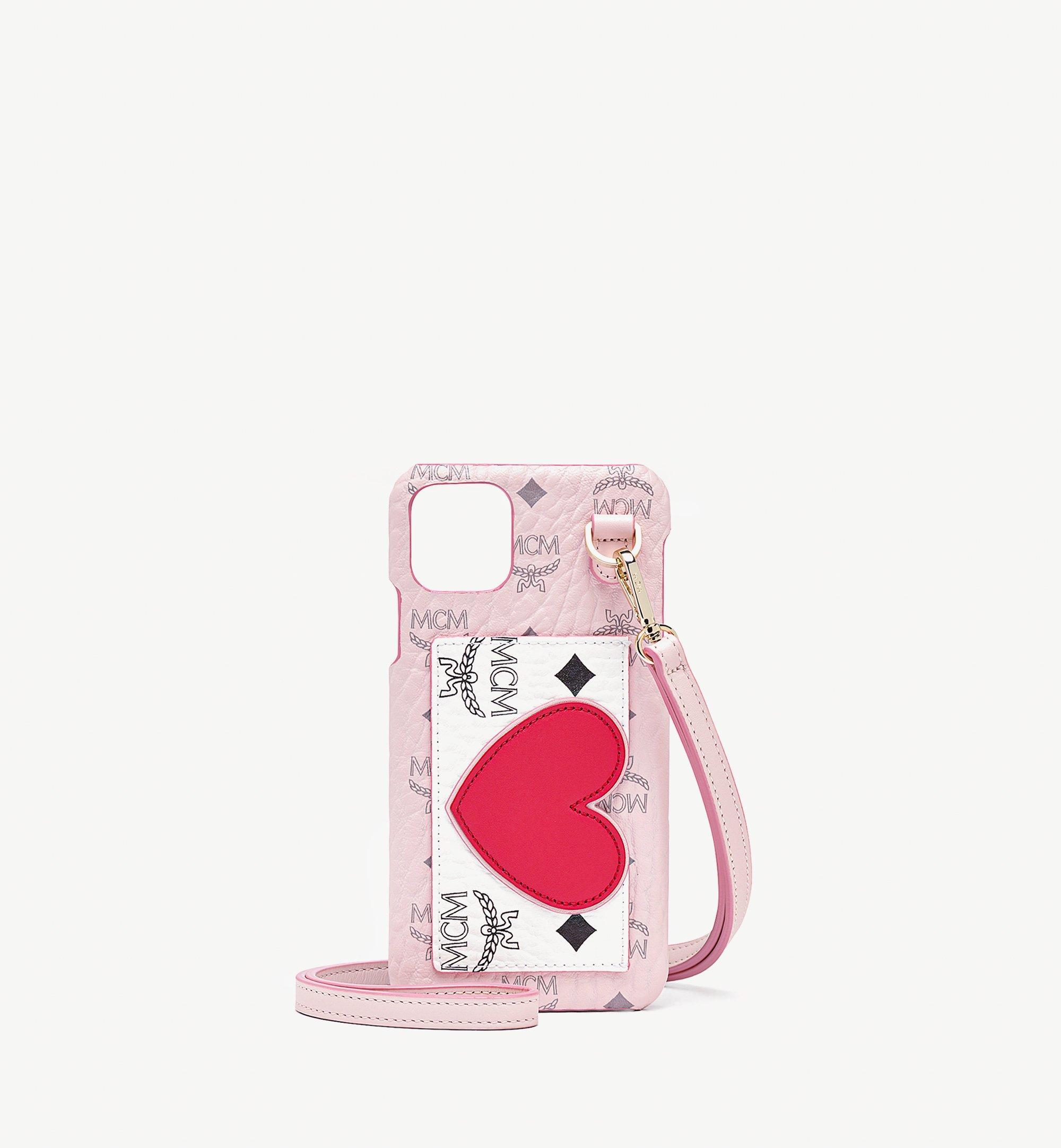 MCM 비세토스 레더 믹스 발렌타인 iPhone 11 Pro Max 케이스 Pink MXEBSVI08QH001 다른 각도 보기 1