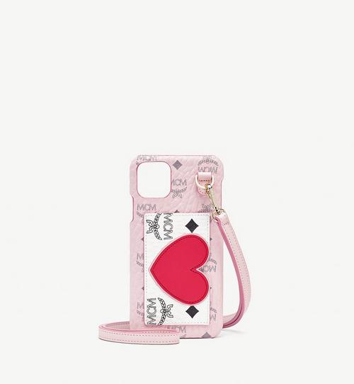 iPhone 11 Pro Max Case in Valentine Visetos Leather Mix