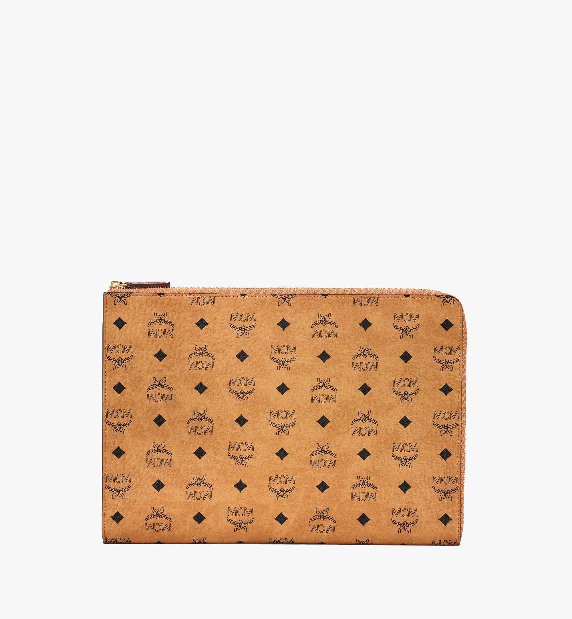 """MCM 13"""" Notebookhülle in Visetos Original Cognac MXEBSVI11CO001 Noch mehr sehen 1"""