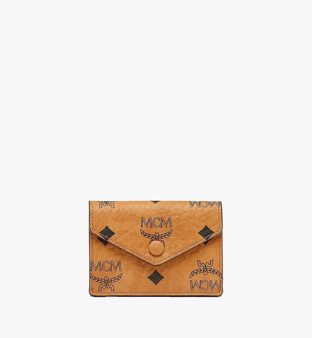 "MCM 13"" iPad Sleeve in Visetos Original Cognac MXEBSVI12CO001 Alternate View 3"