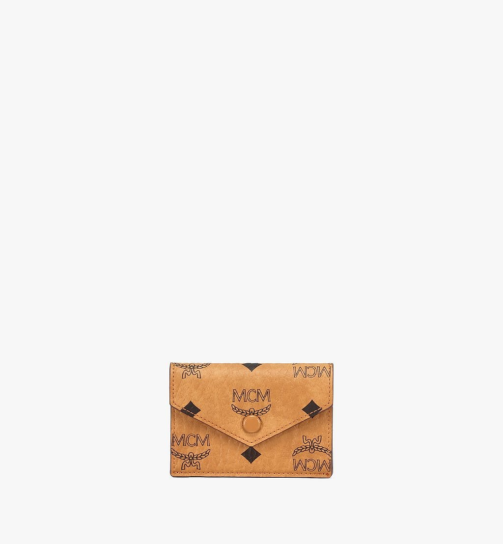 "MCM 13"" iPad Sleeve in Visetos Original Cognac MXEBSVI12CO001 Alternate View 5"