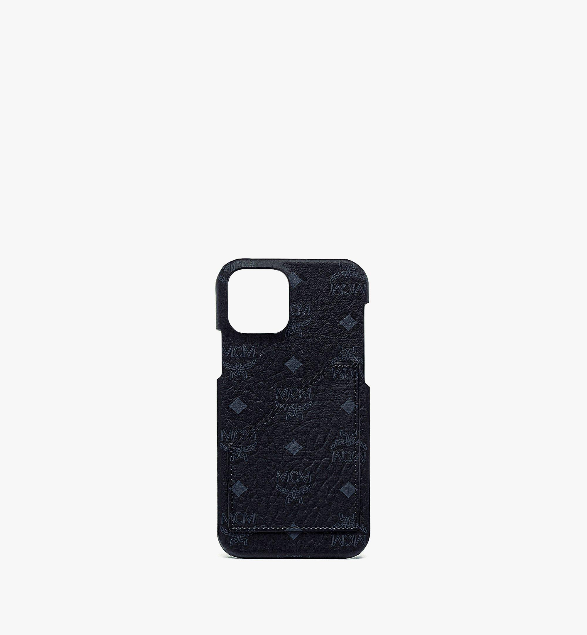 MCM iPhone 12/12 Pro Case in Visetos Original Black MXEBSVI14BK001 Alternate View 1