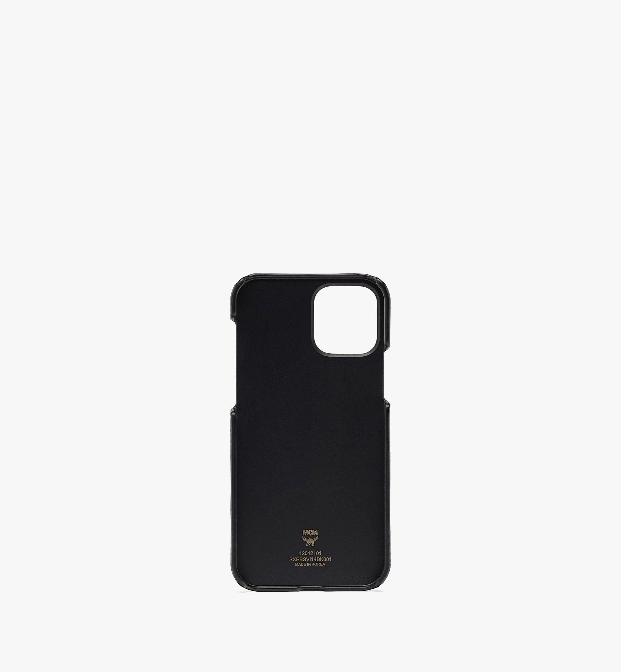 MCM iPhone 12/12 Pro Case in Visetos Original Black MXEBSVI14BK001 Alternate View 2