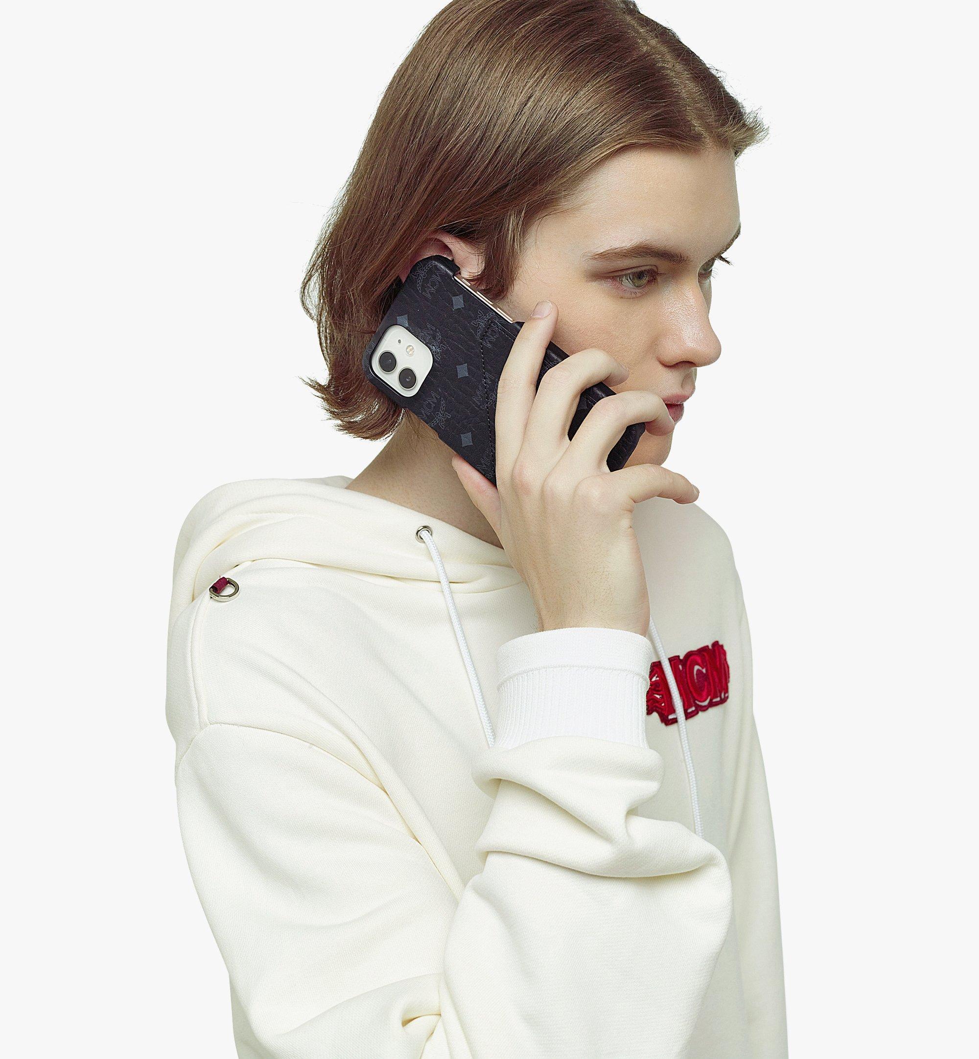 MCM iPhone 12/12 Pro Case in Visetos Original Black MXEBSVI14BK001 Alternate View 2