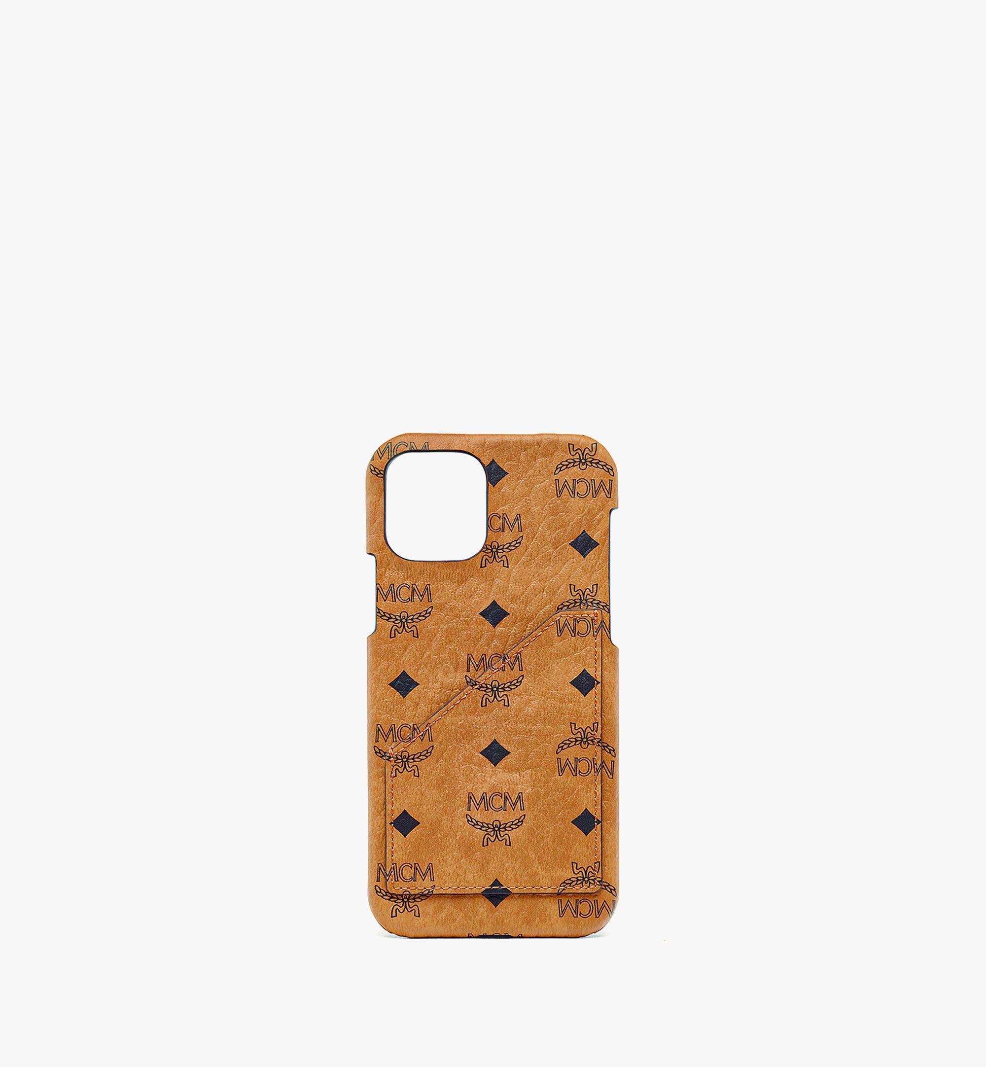 MCM iPhone 12/12 Pro Case in Visetos Original Cognac MXEBSVI14CO001 Alternate View 1