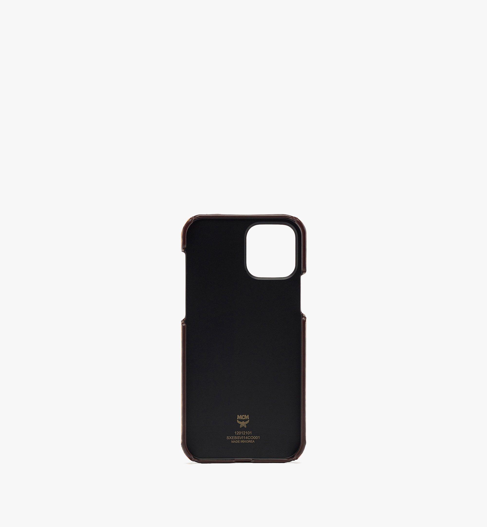 MCM iPhone 12/12 Pro Case in Visetos Original Cognac MXEBSVI14CO001 Alternate View 2