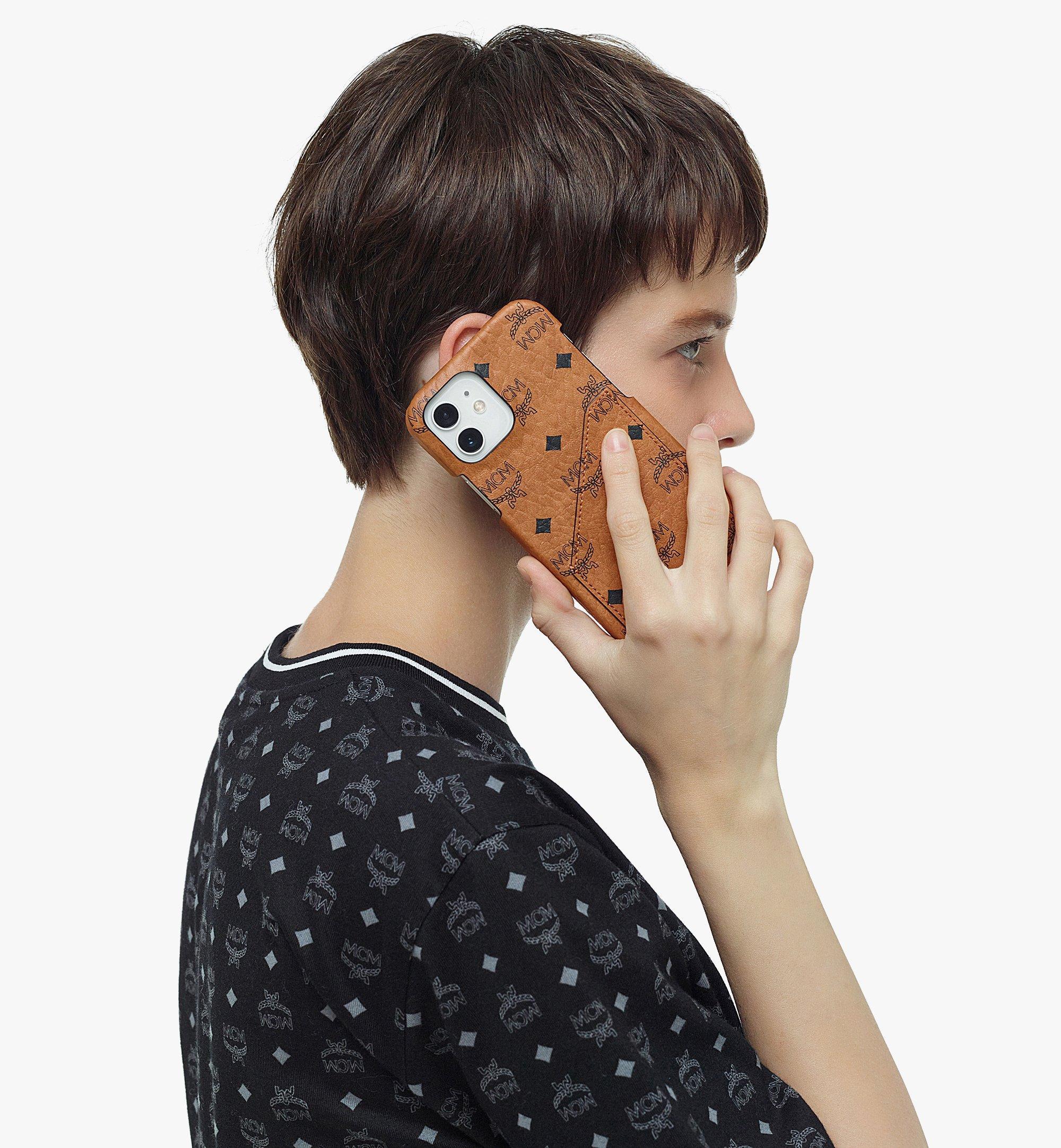 MCM iPhone 12/12 Pro Case in Visetos Original Cognac MXEBSVI14CO001 Alternate View 3