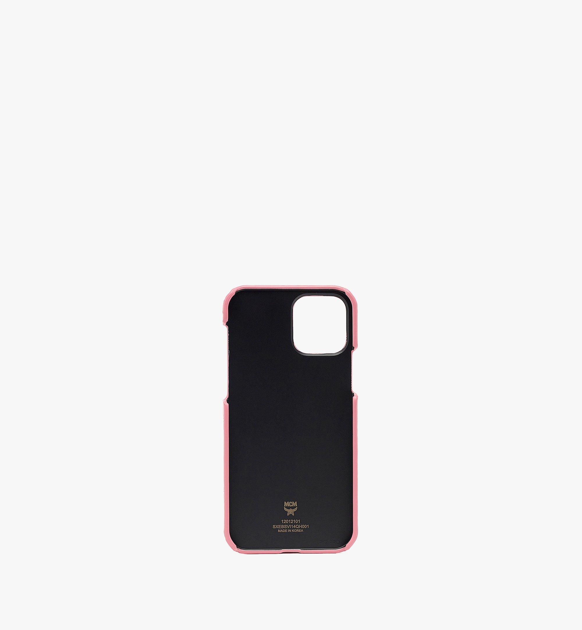 MCM iPhone 12/12 Pro Case in Visetos Original Pink MXEBSVI14QH001 Alternate View 1