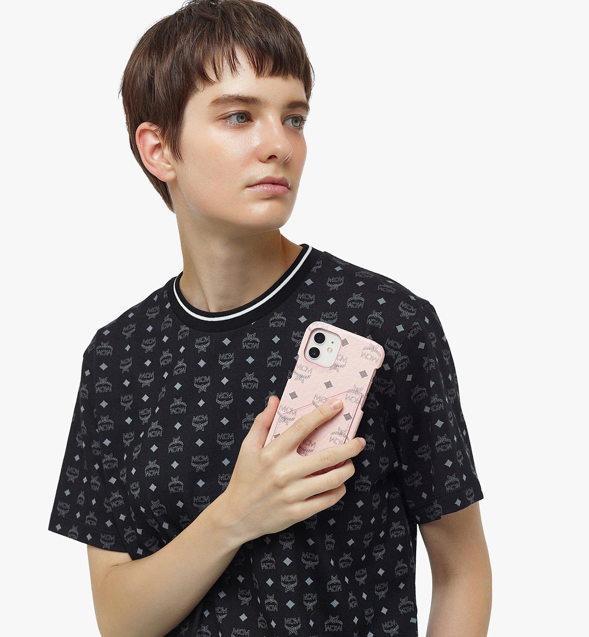 MCM iPhone 12/12 Pro Case in Visetos Original Pink MXEBSVI14QH001 Alternate View 2