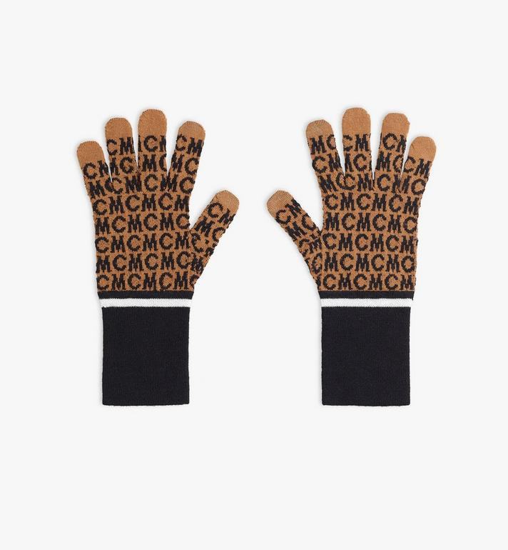 MCM MCM Monogram Wool Gloves Alternate View