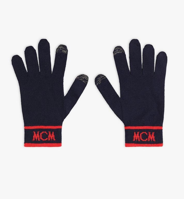 MCM Intarsia Logo Wool Gloves Alternate View
