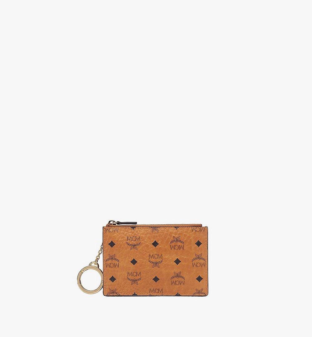 MCM Key Pouch in Visetos Original Cognac MXKAAVI01CO001 Alternate View 1