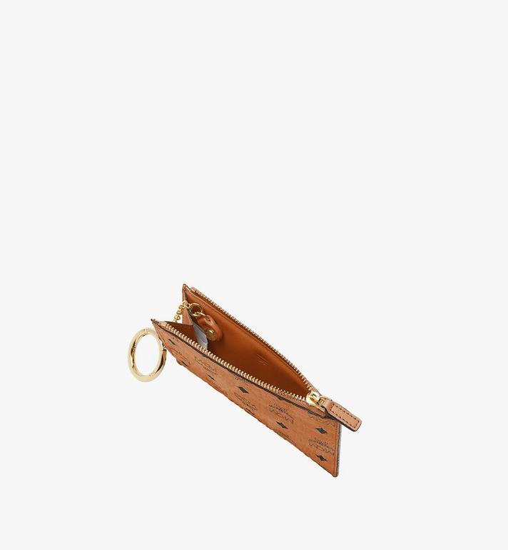 MCM Key Pouch in Visetos Original Cognac MXKAAVI01CO001 Alternate View 3