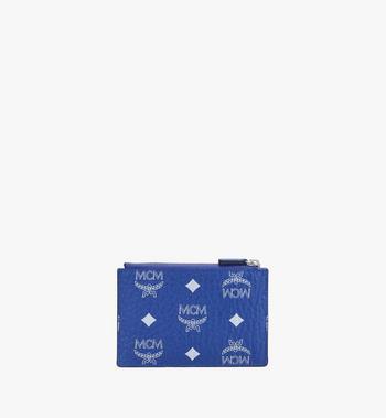 MCM Key Pouch in Visetos Blue MXKASVI01H1001 Alternate View 2