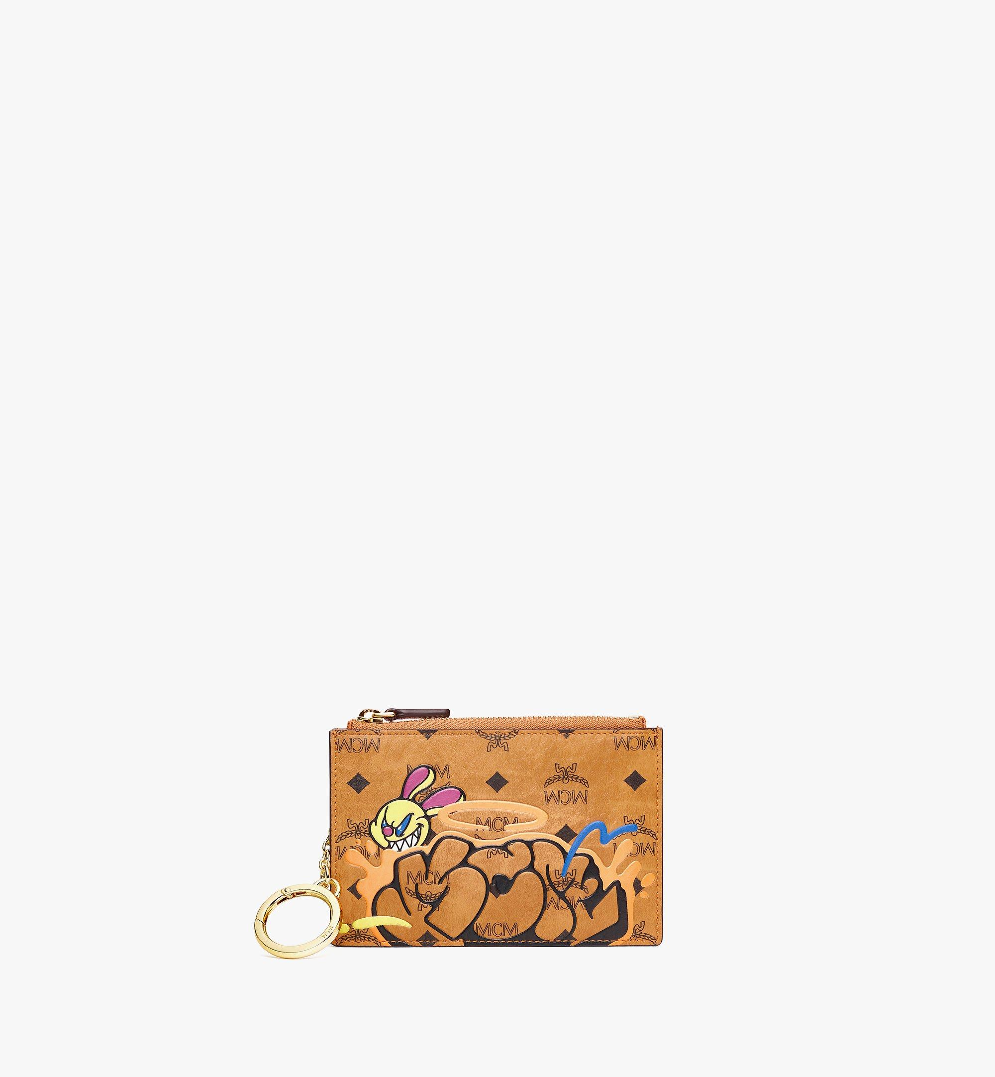 MCM MCM x SAMBYPEN Key Pouch in Visetos Cognac MXKBASP01CO001 Alternate View 1