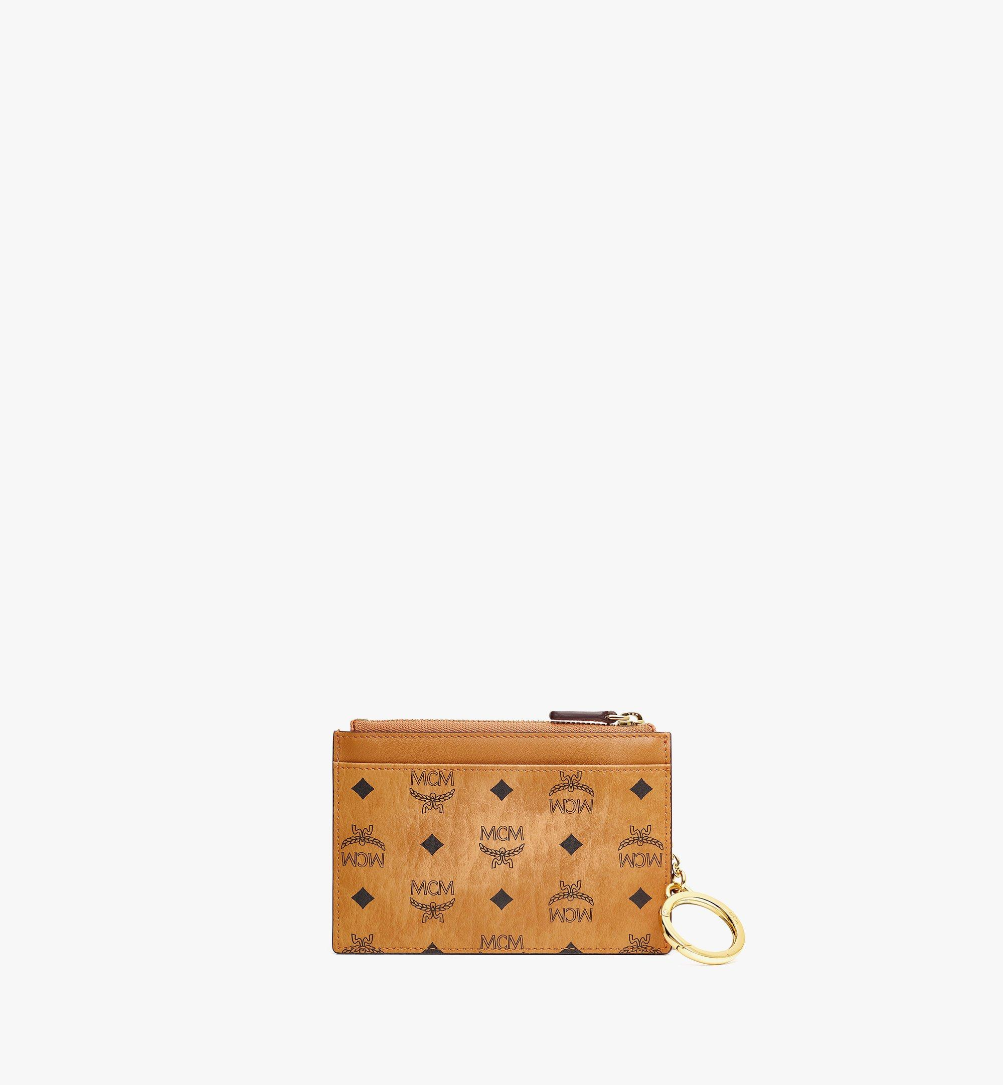 MCM MCM x SAMBYPEN Key Pouch in Visetos Cognac MXKBASP01CO001 Alternate View 2