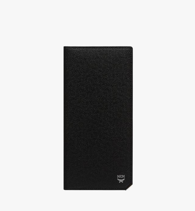 〈ニュー ブリック〉エンボスレザー 二つ折り長財布